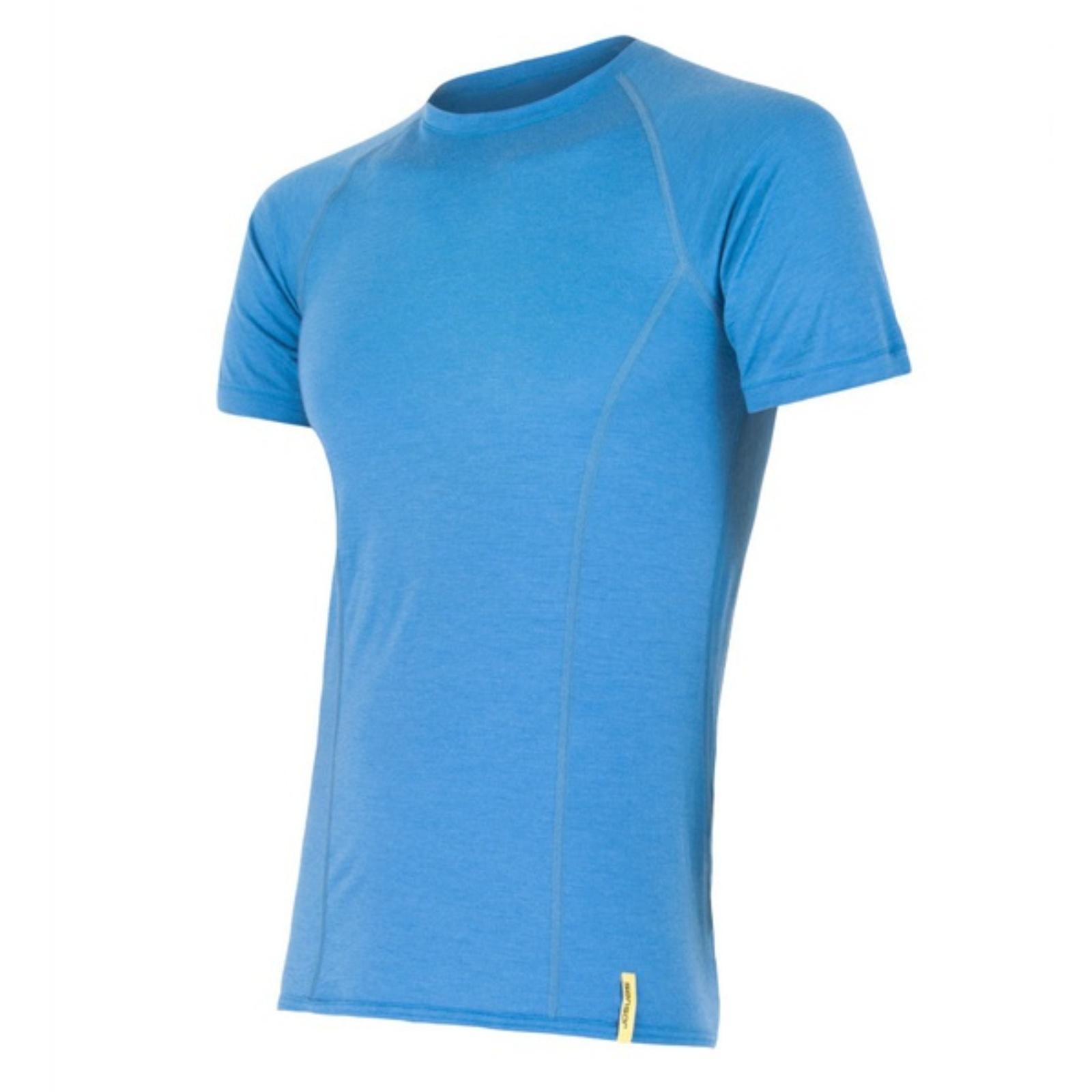 Tričko krátky rukáv SENSOR Merino Wool pánske modré