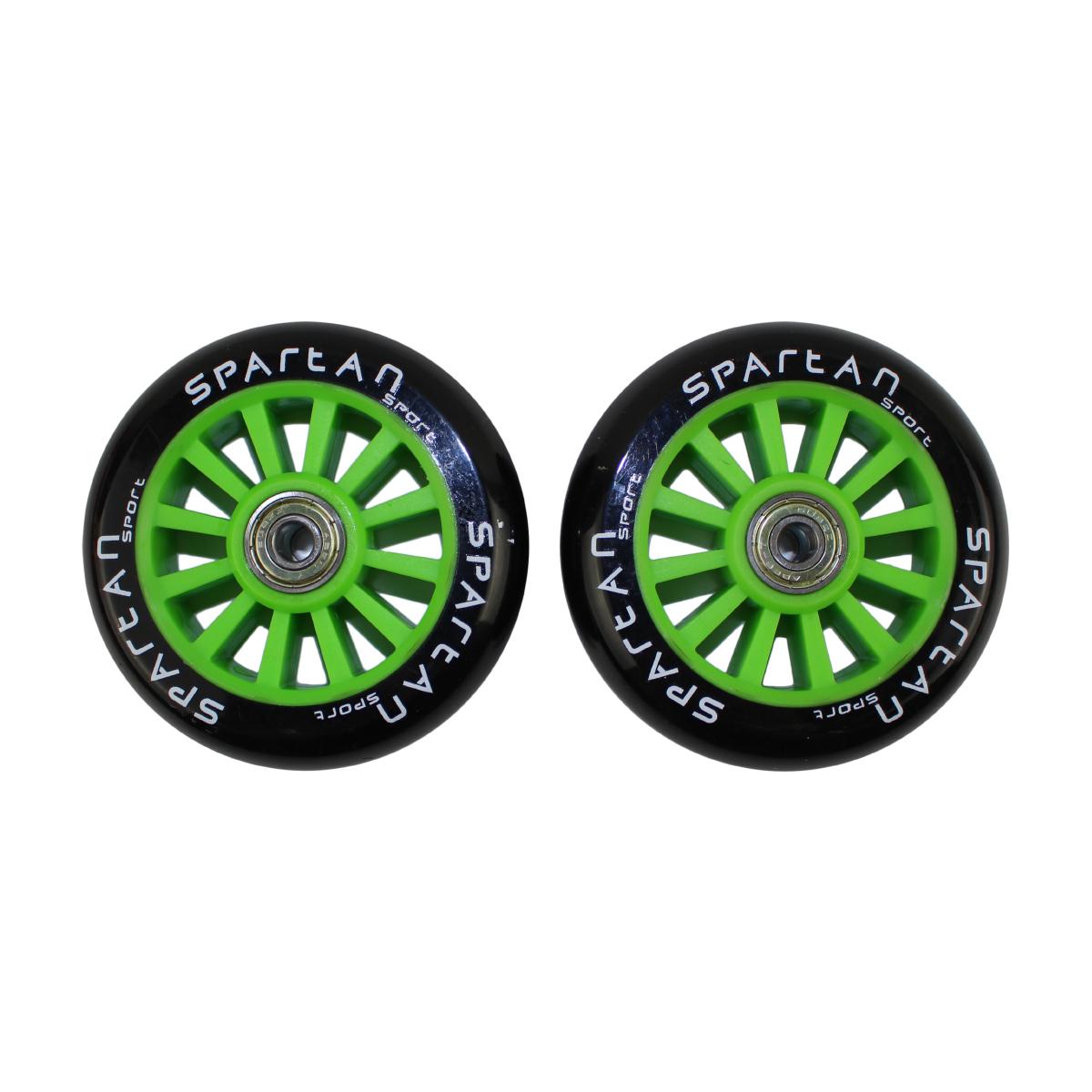 Náhradné kolieska na kolobežky SPARTAN Stunt 100 mm - zelené