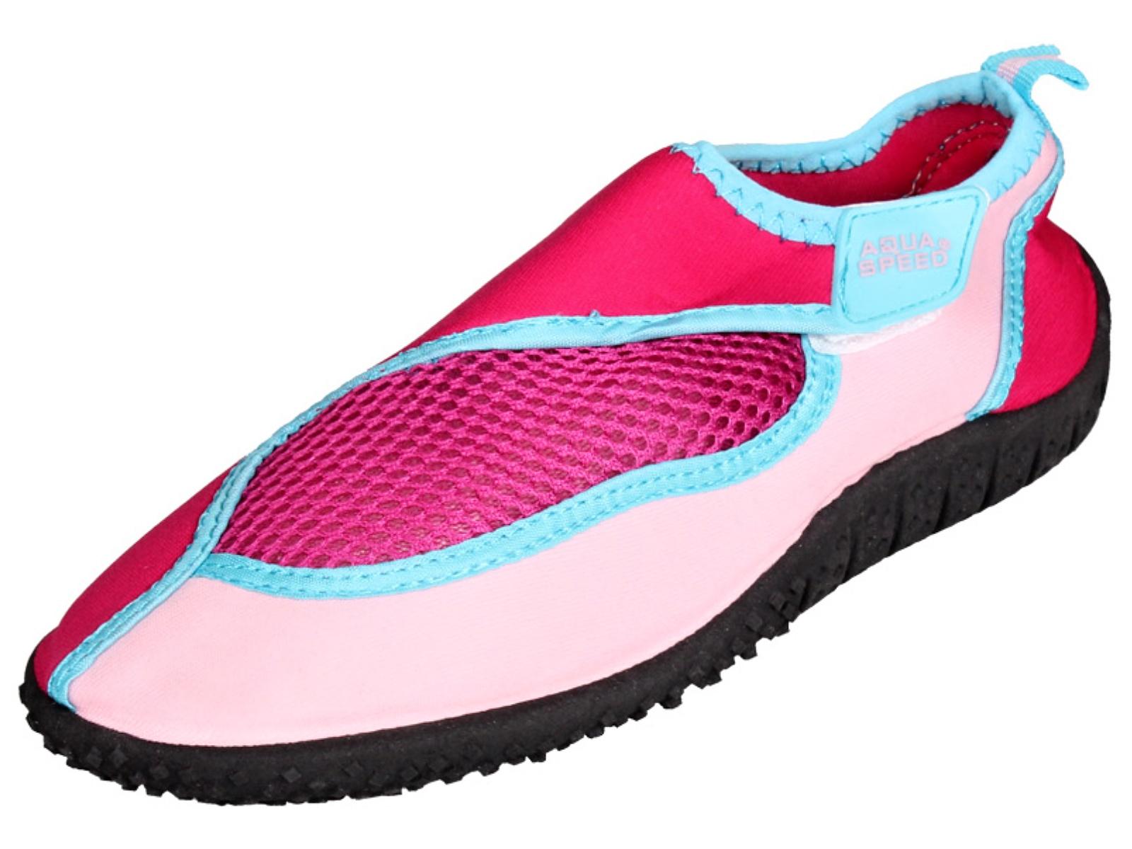 efe44e3e7b0f Topánky do vody AQUA-SPEED 26C detské ružové - veľ. 29