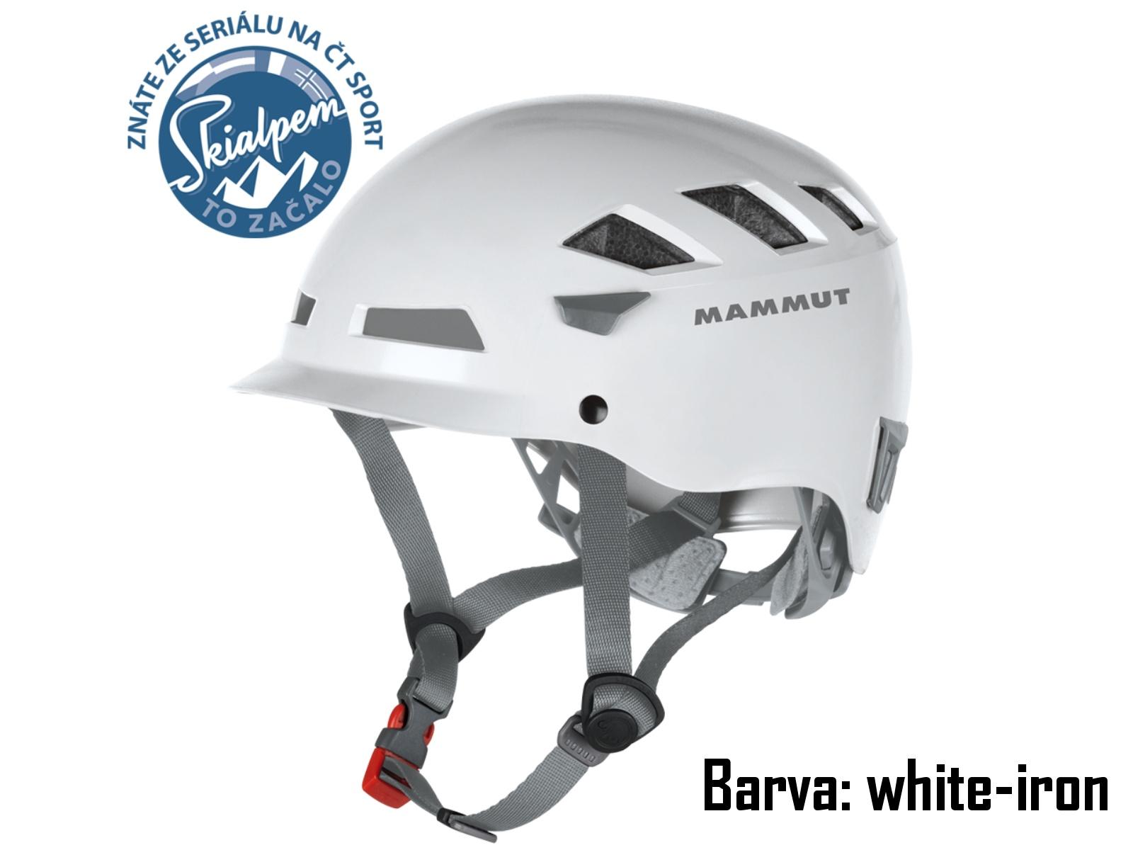 Horolezecká prilba MAMMUT El Cap white-iron, vel. 52-57 cm