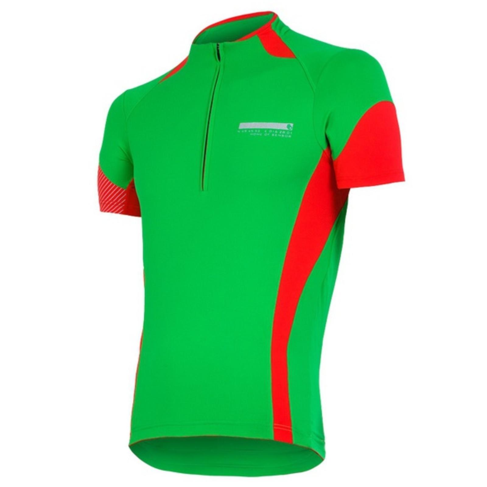 Dres krátký rukáv SENSOR Race Evo pánský - zeleno-červený