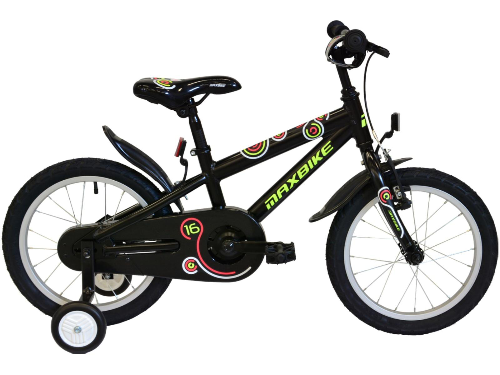 "Detský bicykel MAXBIKE 16"" 2017 - čierne"