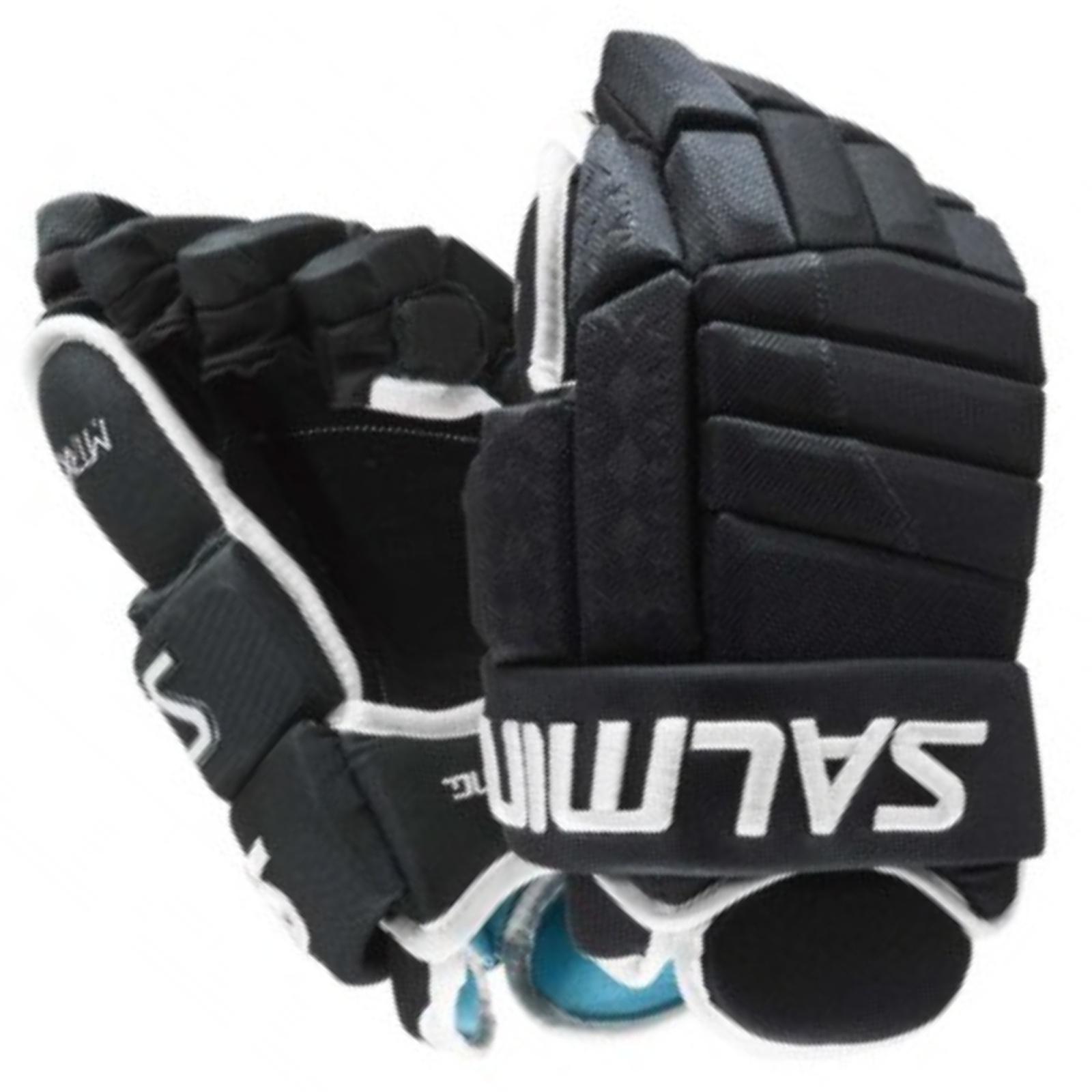 Hokejové rukavice SALMING MTRX 21 - čierne veľ. 13''