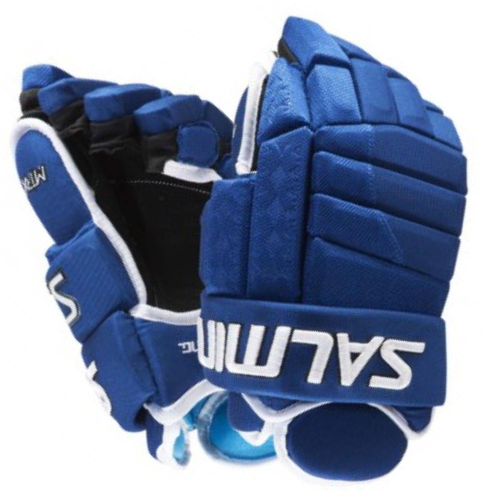 Hokejové rukavice SALMING MTRX 21 - modré veľ. 14''