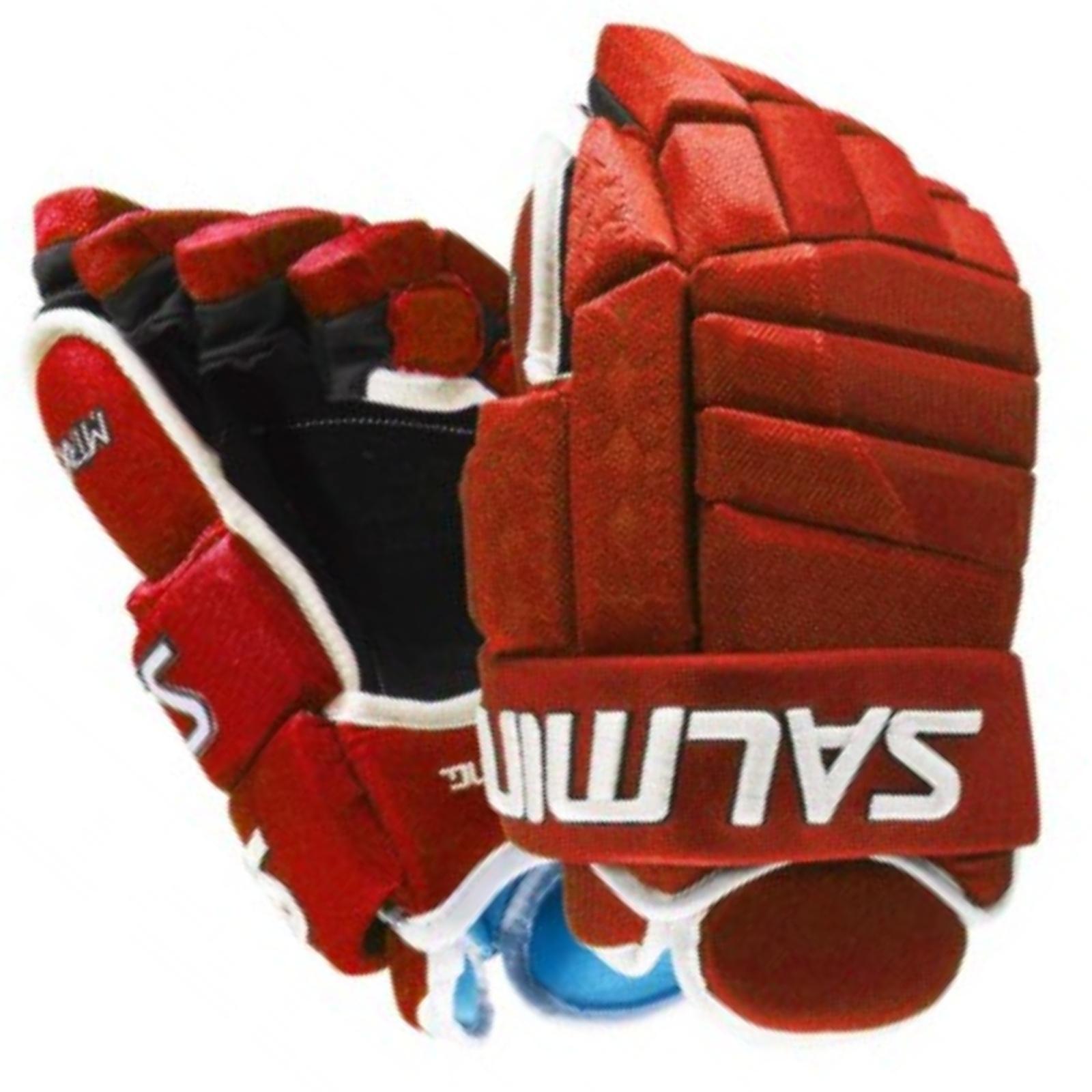 Hokejové rukavice SALMING MTRX 21 - červené veľ. 13''