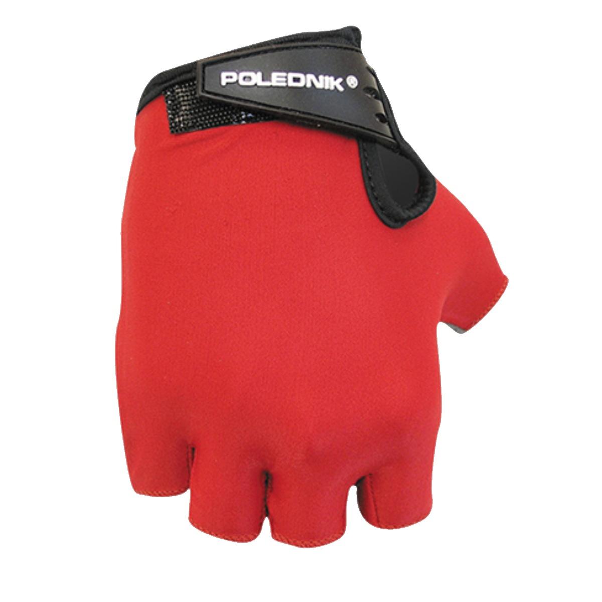 Cyklo rukavice POLUDNÍK Basic detské - červené