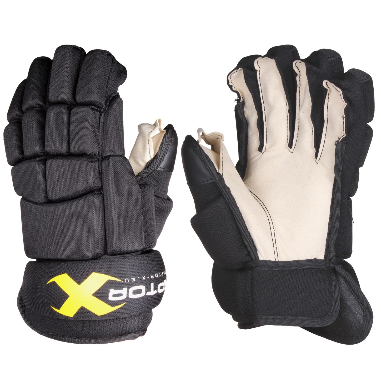 Hokejové rukavice Raptor-X senior, čierne veľ. 14''