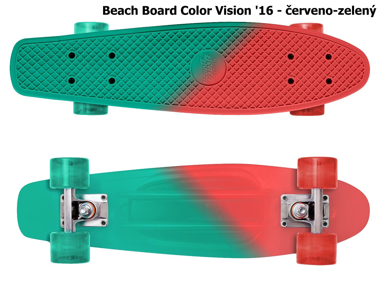 Skateboard STREET SURFING Beach Board Color Vision - červeno-zelený