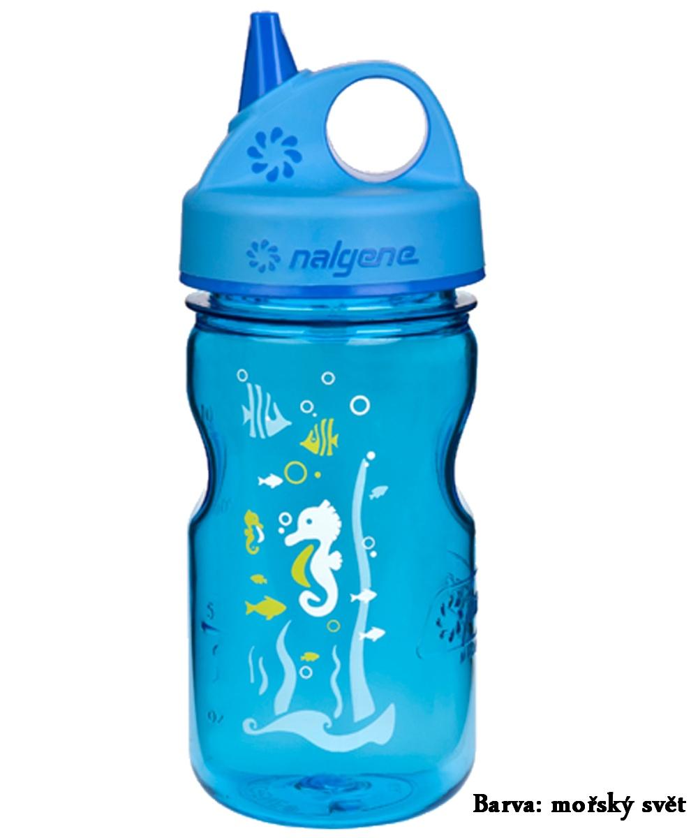 Fľaša NALGENE Kids Grip'n Gulp 0,350 l - morský svet