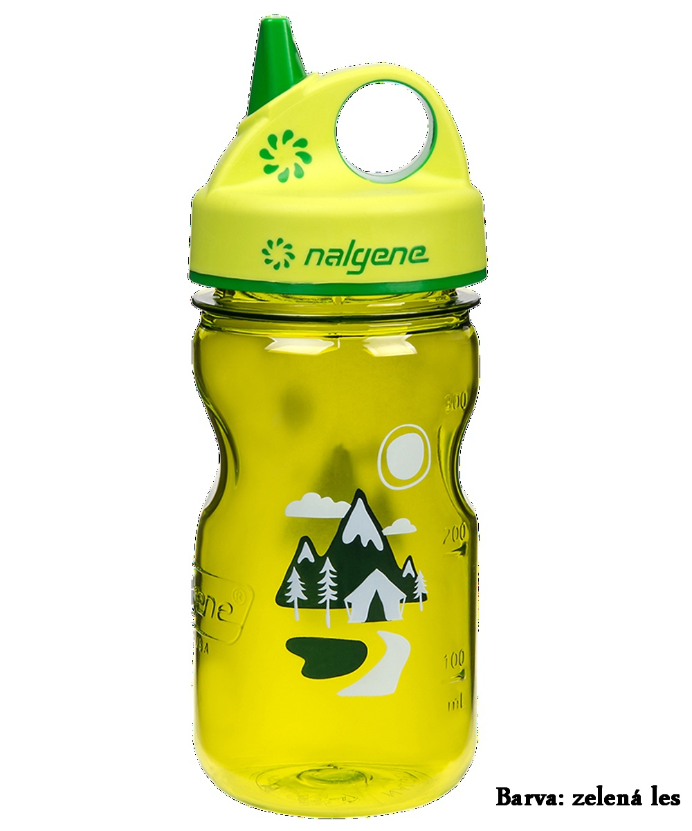Fľaša NALGENE Kids Grip'n Gulp 0,350 l - zelený les