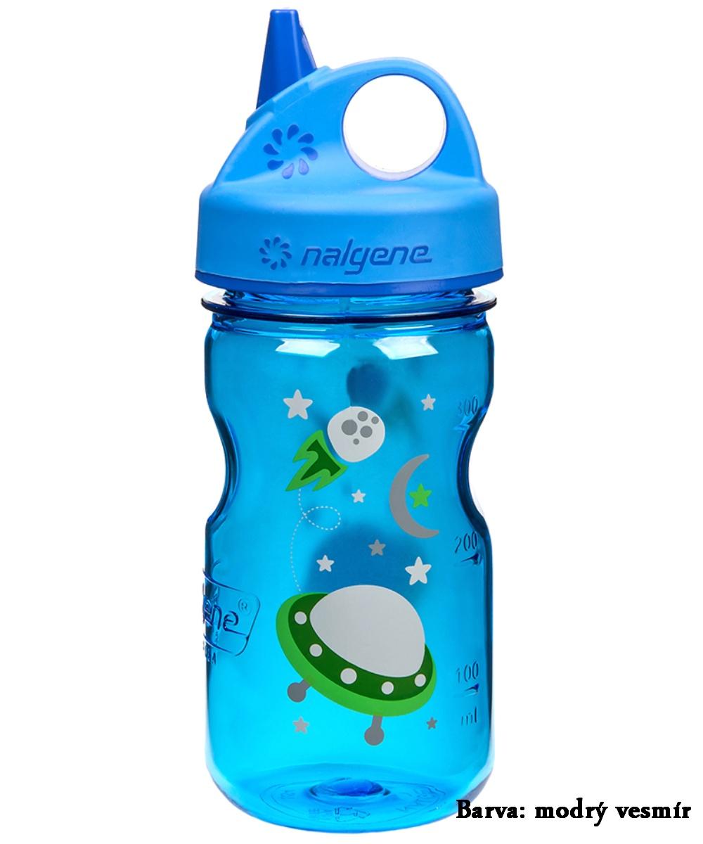 Fľaša NALGENE Kids Grip'n Gulp 0,350 l - modrý vesmír