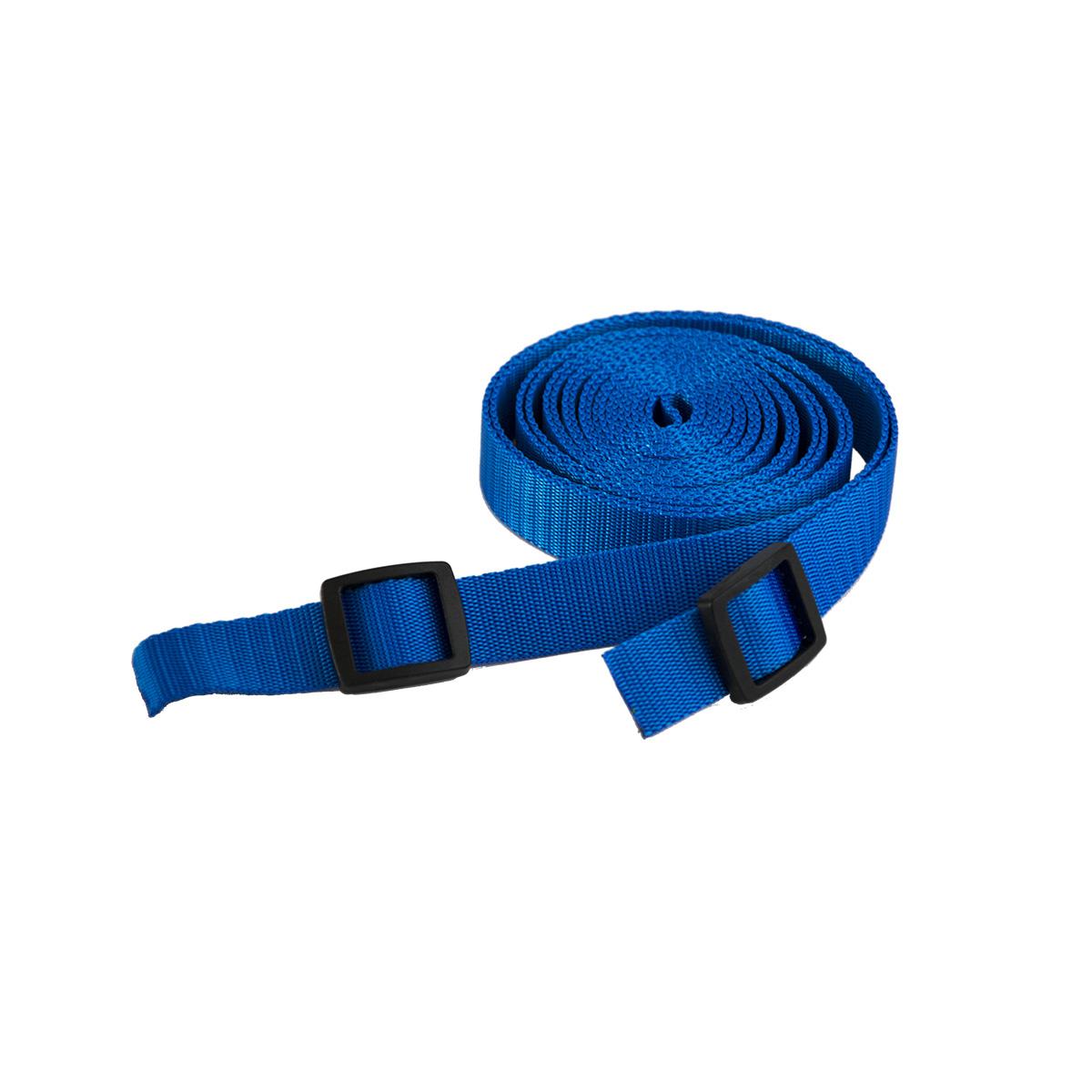 Ťažný popruh na ťahanie saní a bodov - 3 metre - modrý