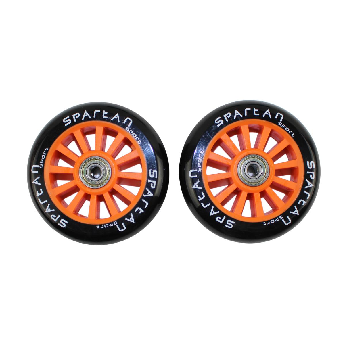 Náhradné kolieska na kolobežky SPARTAN Stunt 100 mm - oranžové