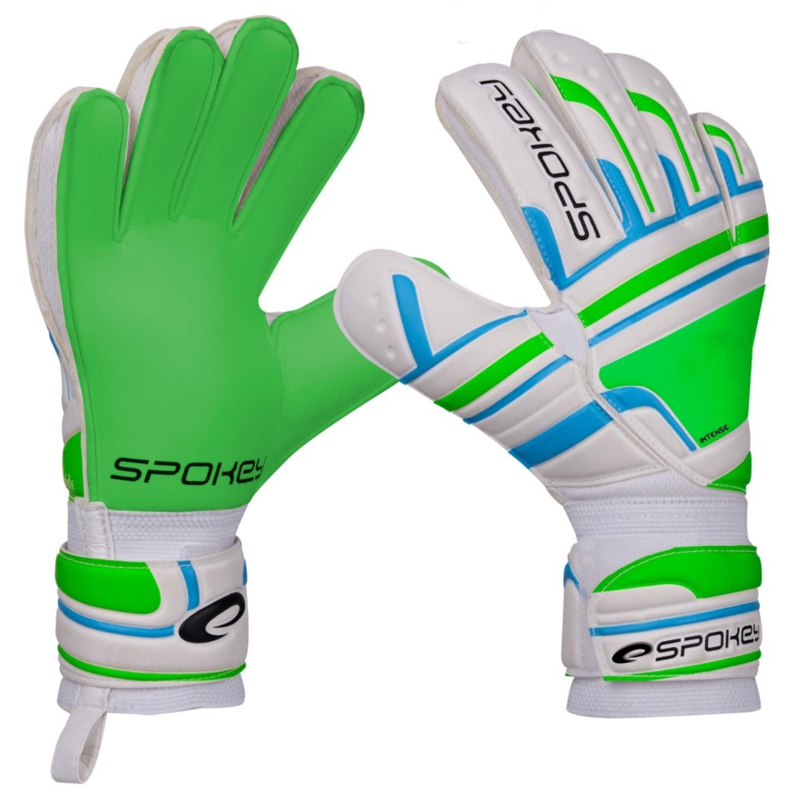 Brankárske rukavice SPOKEY Intense zelené - veľ. 6
