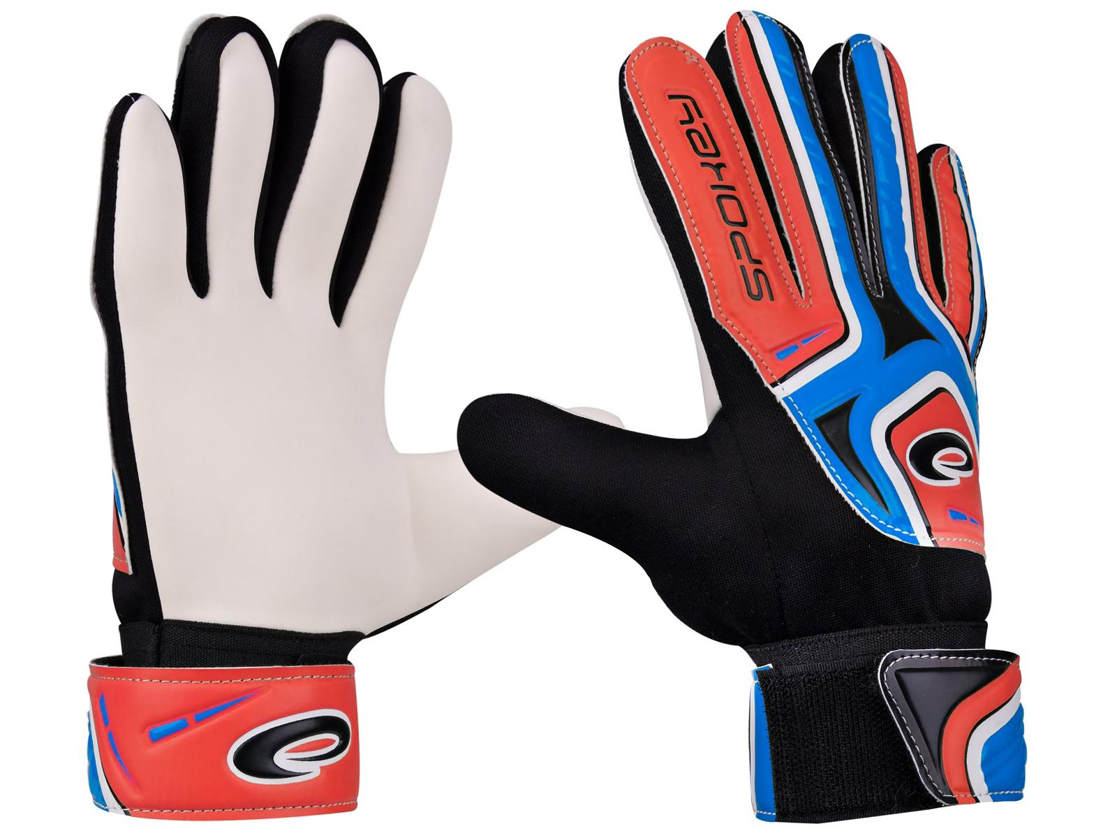 Brankárske rukavice SPOKEY Catch II 6 modro-červené