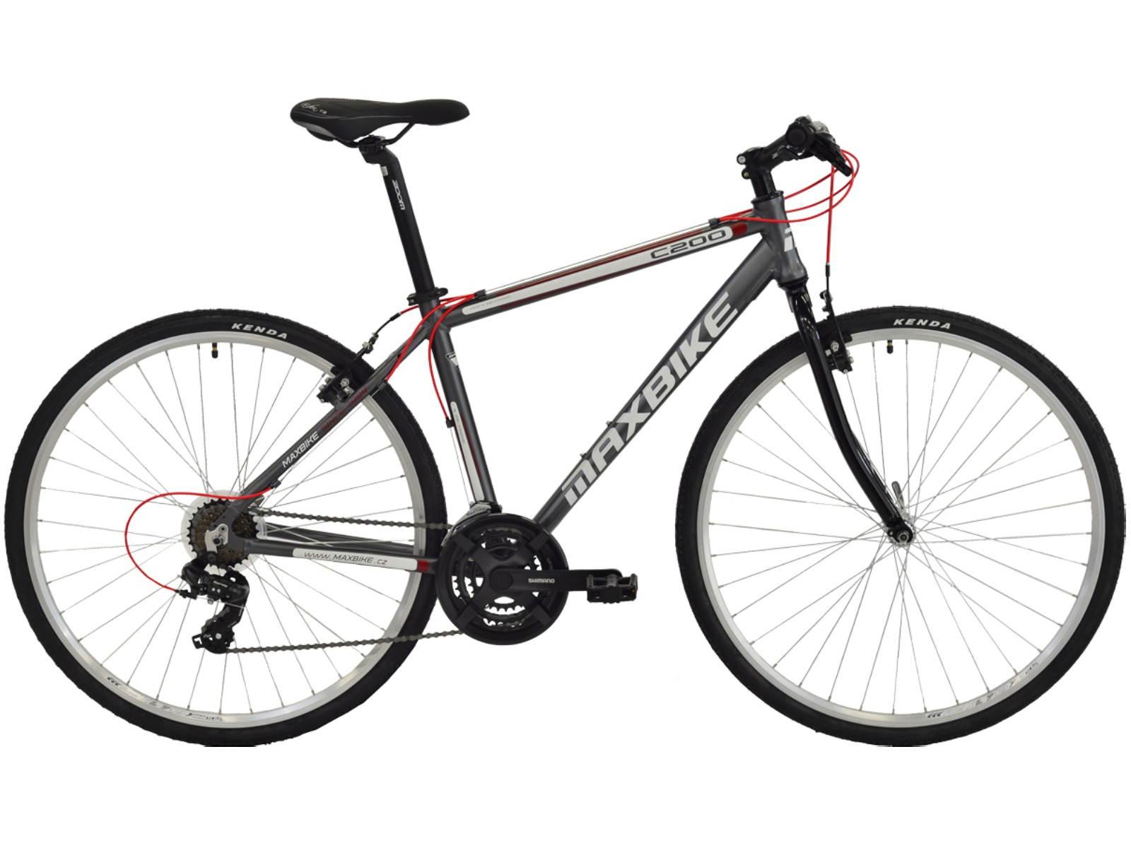 "Krosový bicykel MAXBIKE Lakone matne čierne - veľ. rámu 22"""