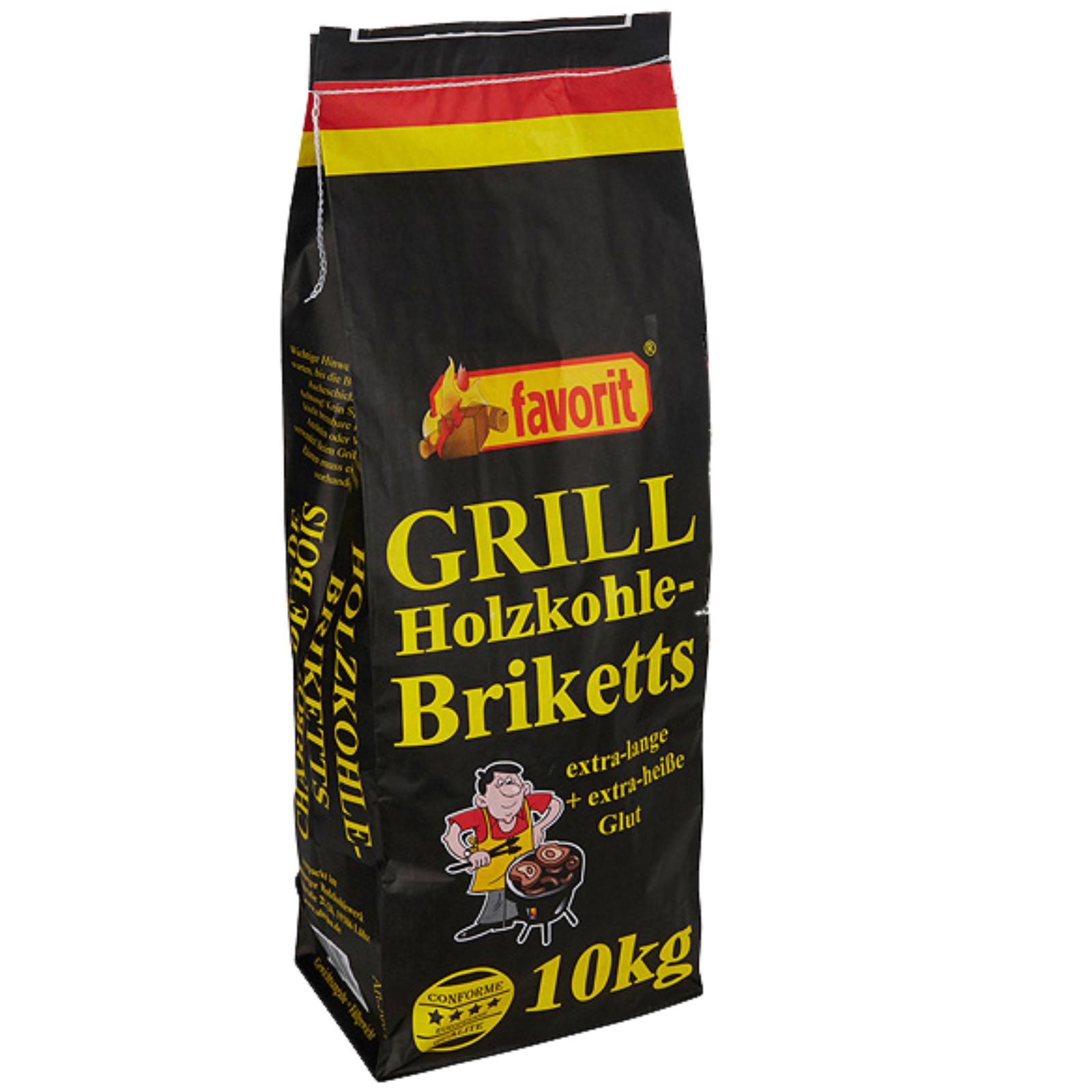 Grilovacie brikety FAVORIT 10 kg