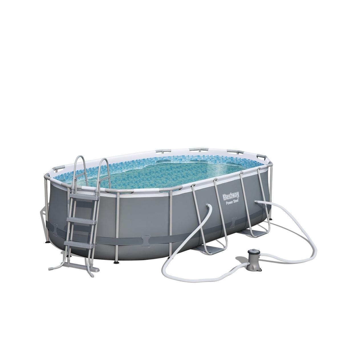 Bazén BESTWAY Power Steel Pool 424 x 250 x 100 cm set s kartušovou filtráciou