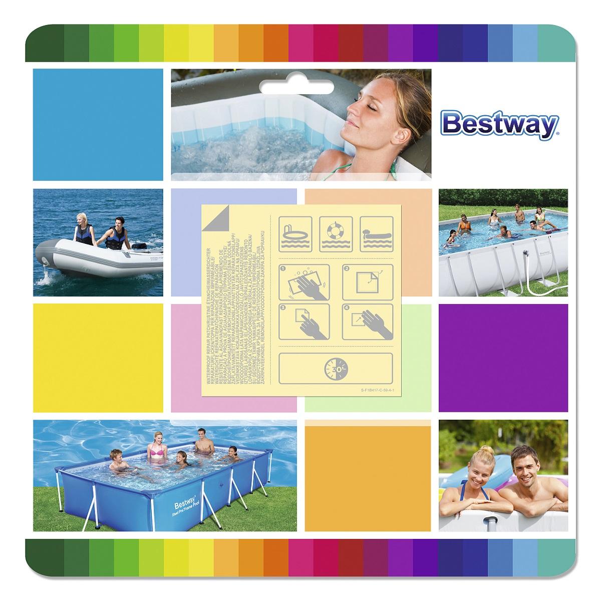 Samolepiace záplaty na člny a bazény BESTWAY