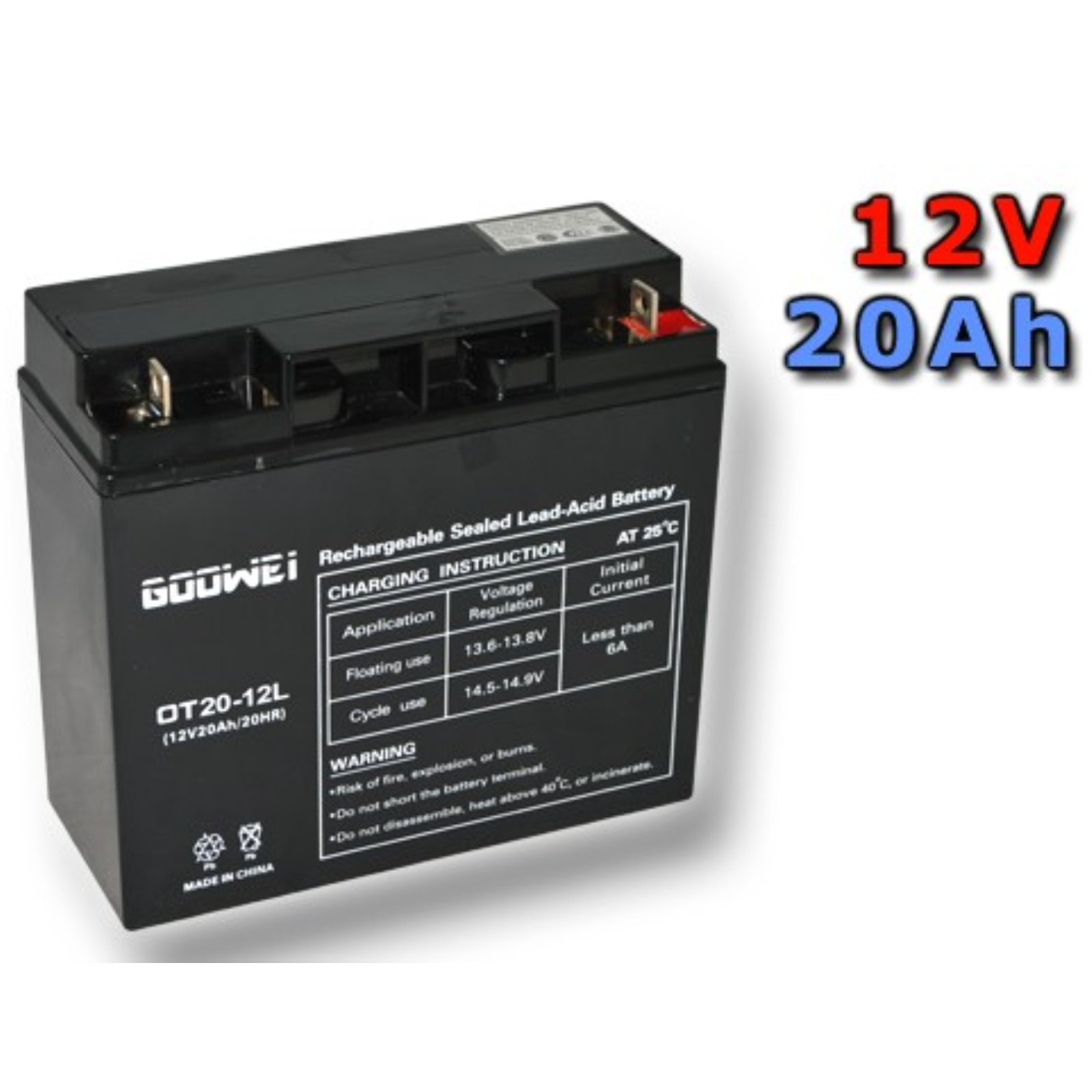 Trakčná gélová batéria GOOWEI OTL20-12 20Ah