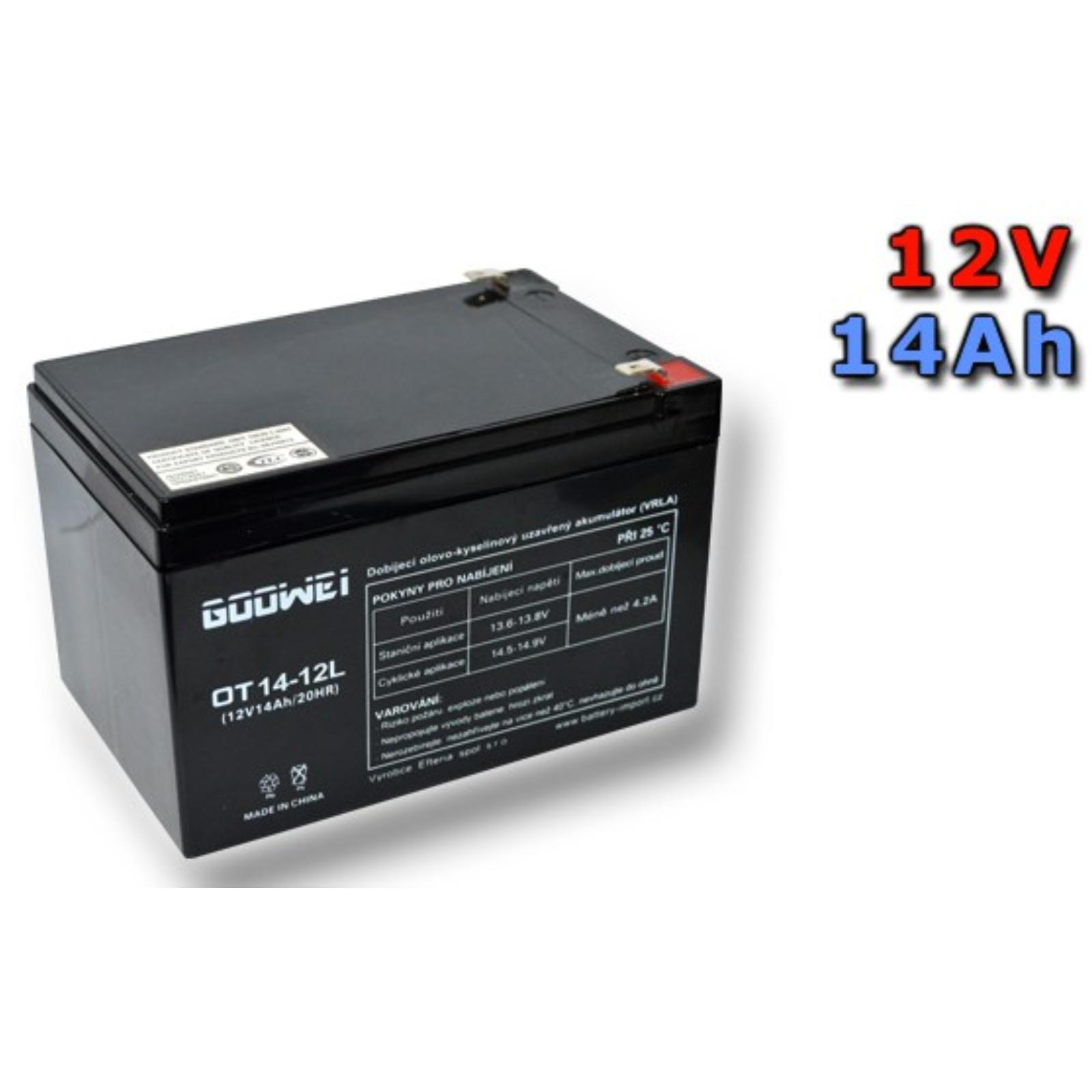 Trakčná gélová batéria GOOWEI OTL14-12 14Ah