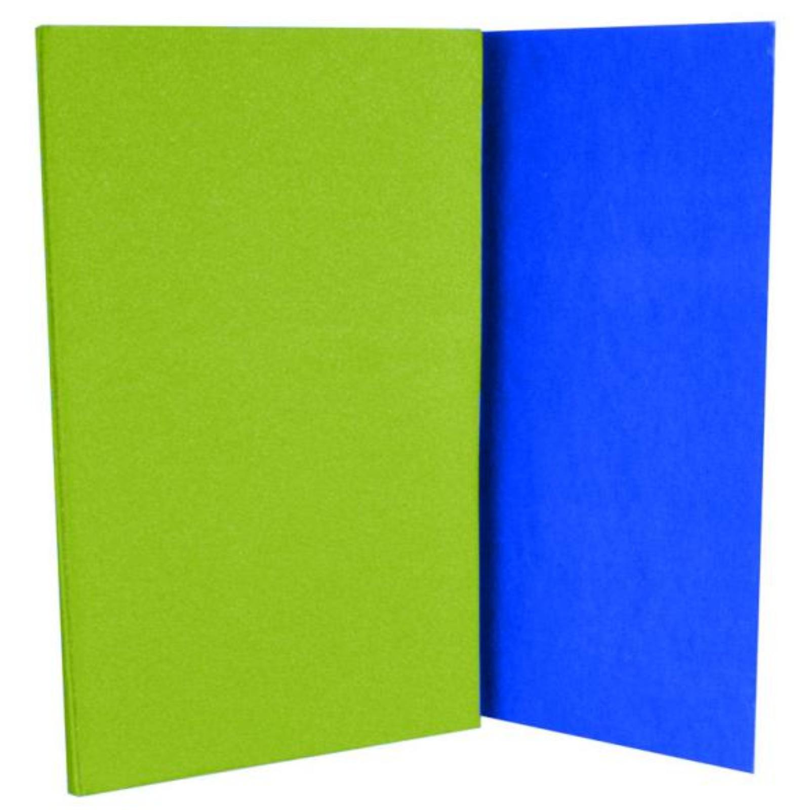 Karimatka skladacia s fóliou - zelen-modrá