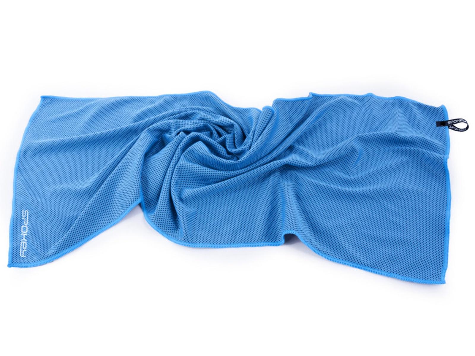 COSMO Chladící rychleschnoucí ručník 31 x 84 cm, modrý v plastové tubě