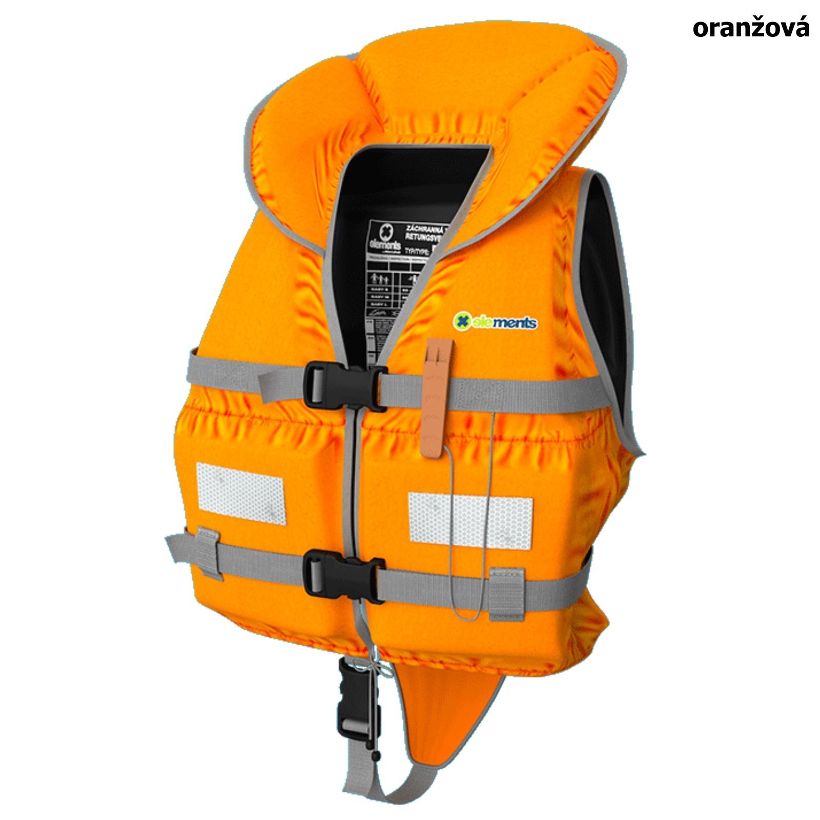 Záchranná vesta ELEMENTS GEAR Baby oranžová - veľ. L