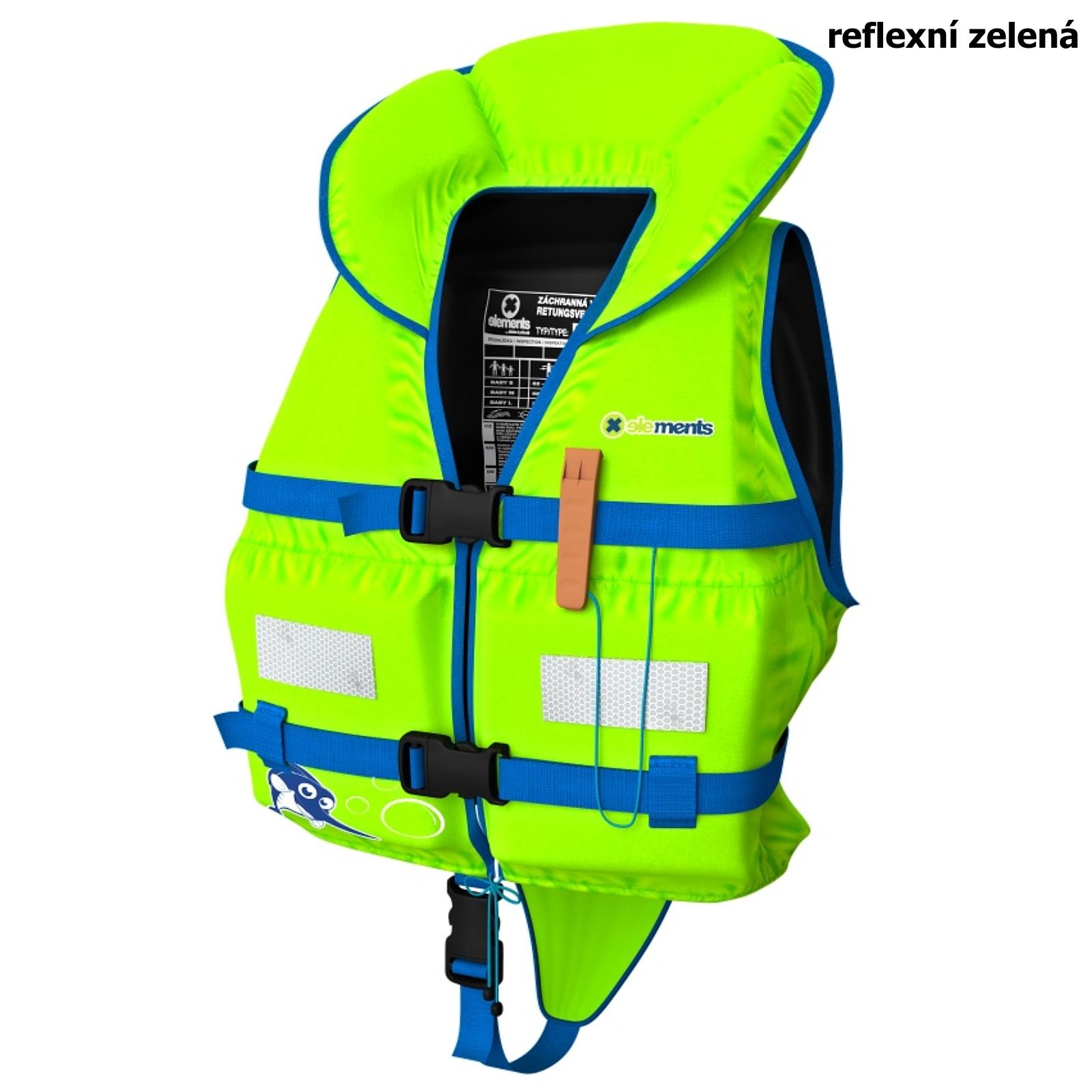 Záchranná vesta ELEMENTS GEAR Baby Plus zelená - veľ. S