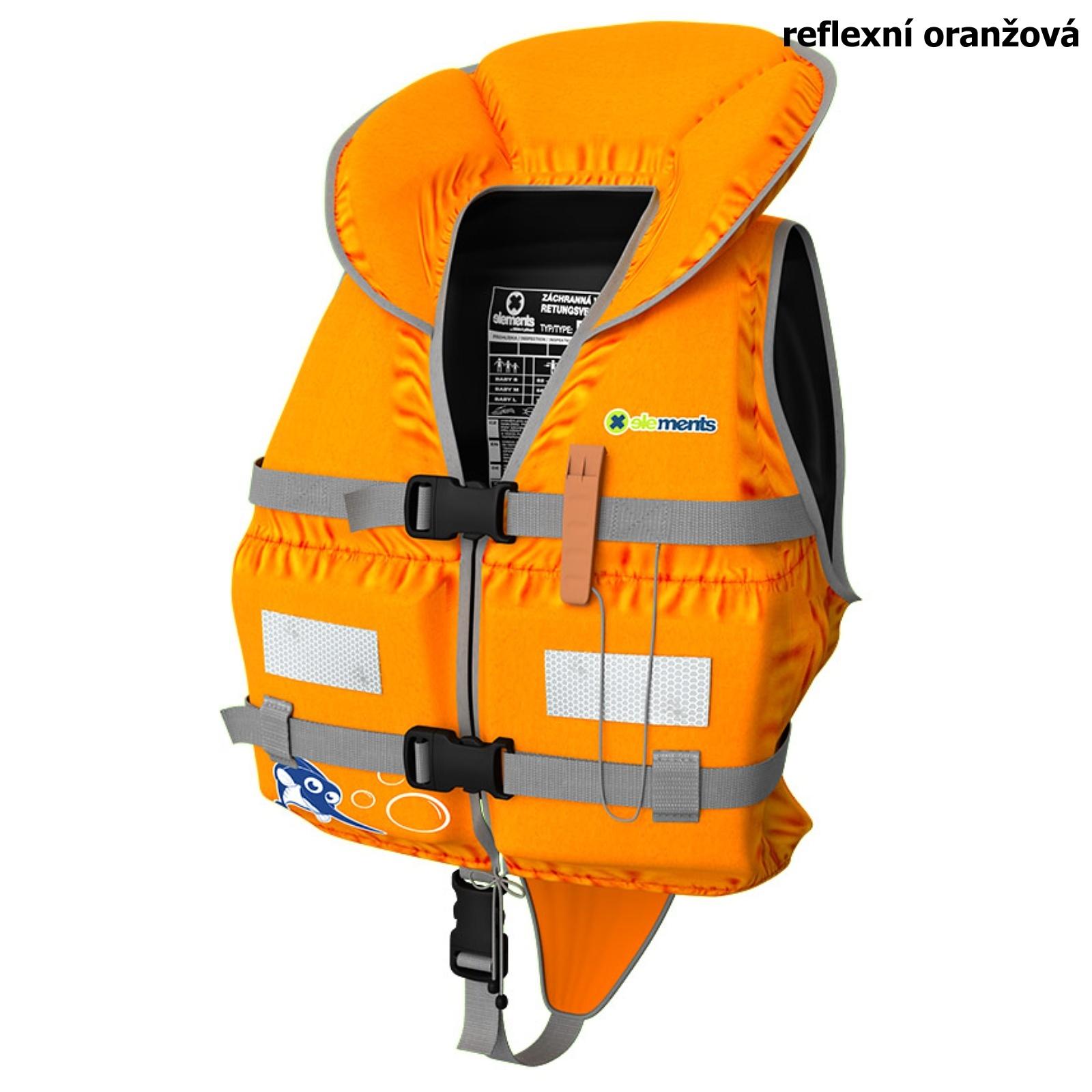 Záchranná vesta ELEMENTS GEAR Baby Plus oranžová - veľ. L