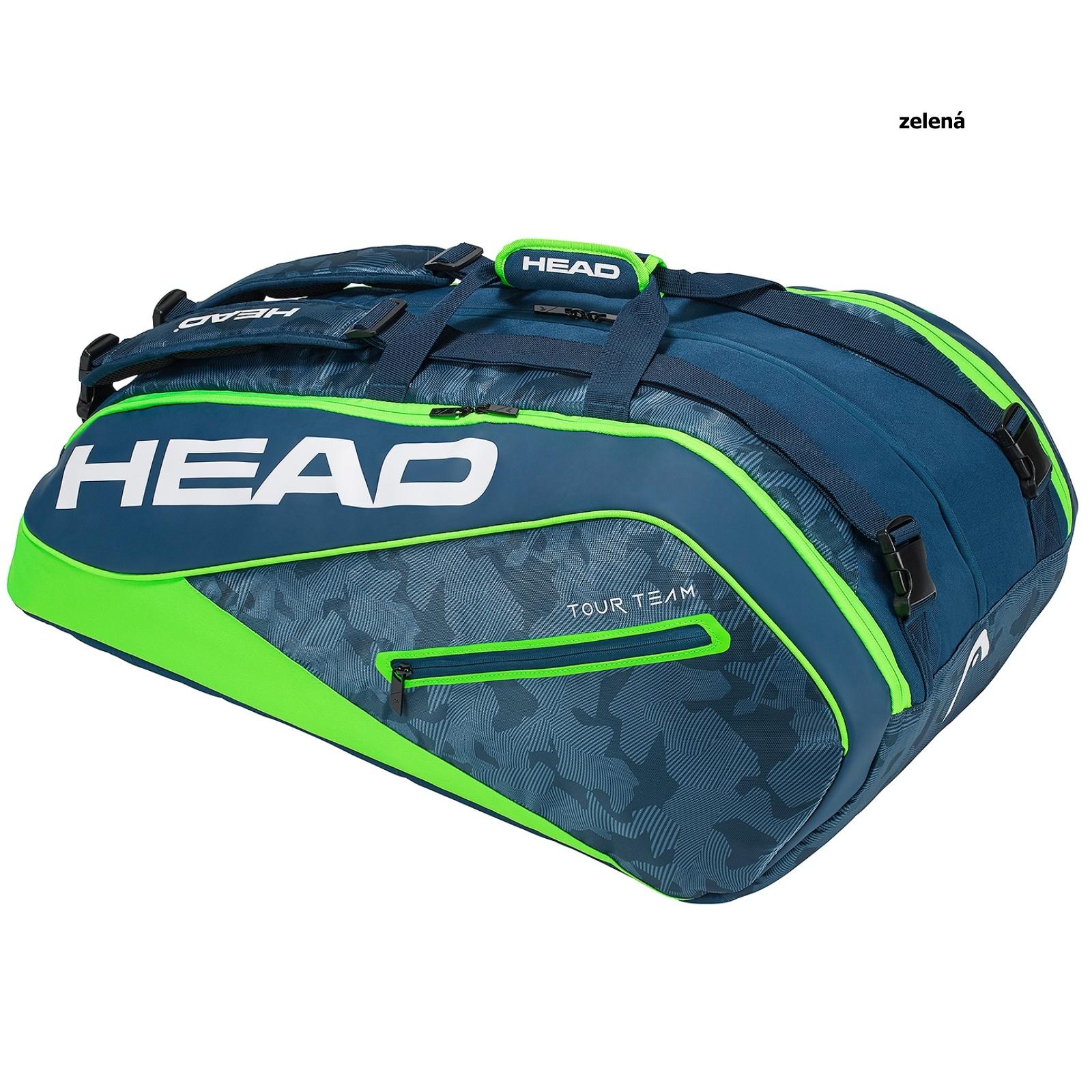 Tenisová taška HEAD Tour 12R Monstercombi - zelená