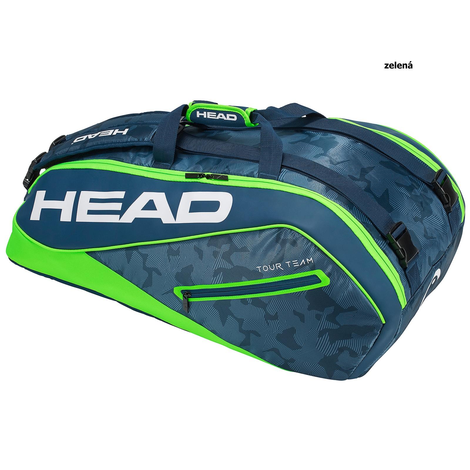 Tenisová taška HEAD Tour 9R Supercombi - zelená