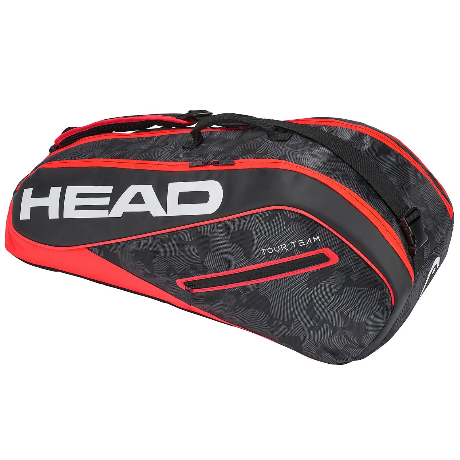 Tenisová taška HEAD Tour 6R Combi - červená