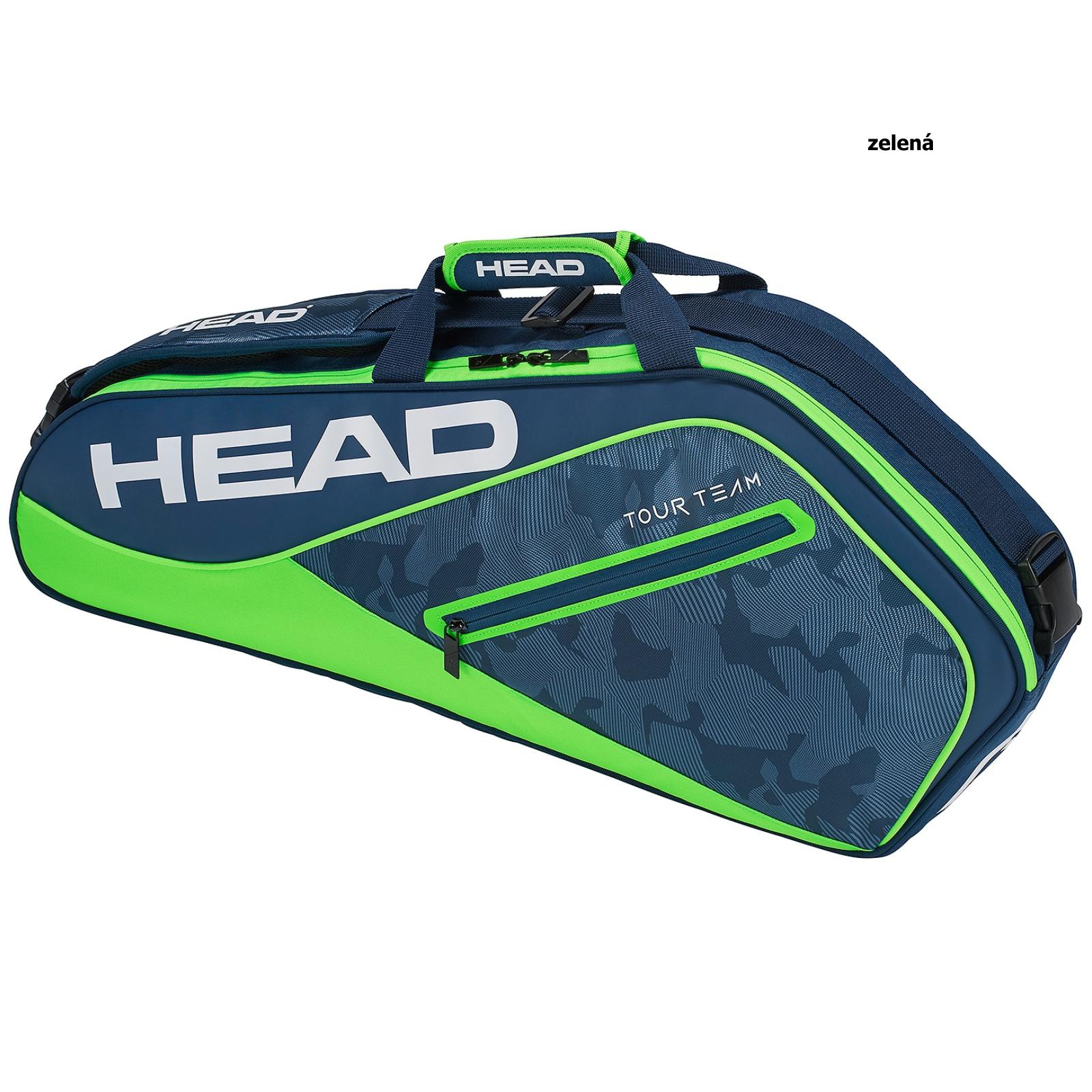 Tenisová taška HEAD Tour 3R Pro - zelená