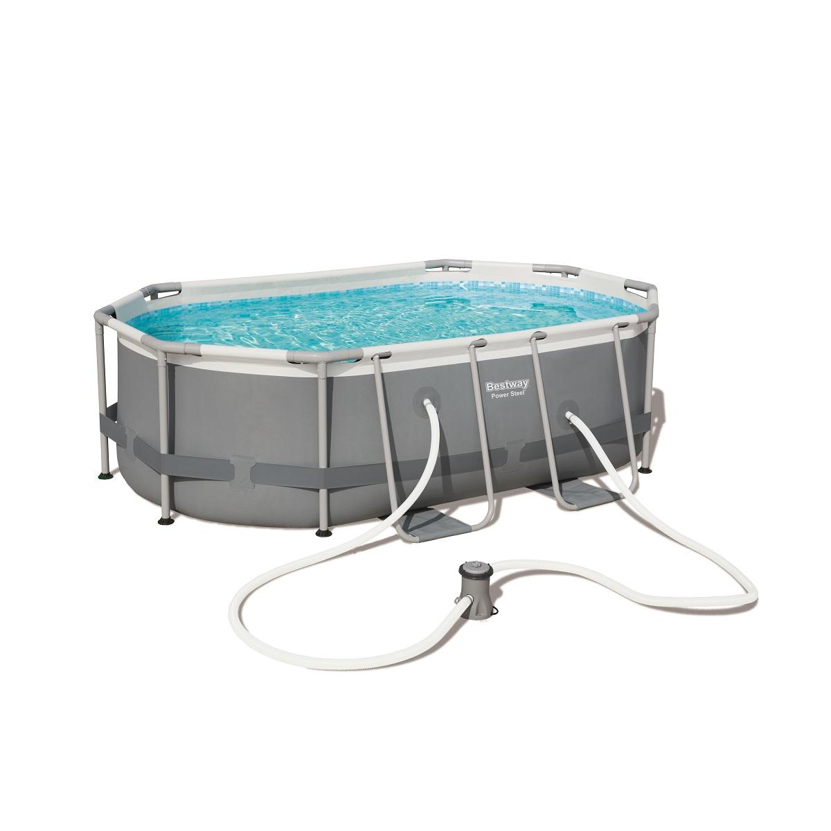 Bazén BESTWAY Power Steel 300 x 200 x 84 cm set s kartušovou filtráciou