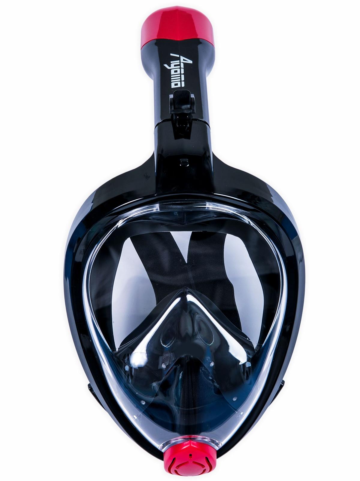 Celotvárová maska na šnorchlovanie AGAMA čierna - veľ. S-M