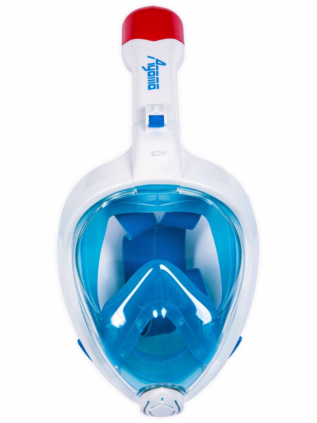Celotvárová maska na šnorchlovanie AGAMA modrá - veľ. L-XL