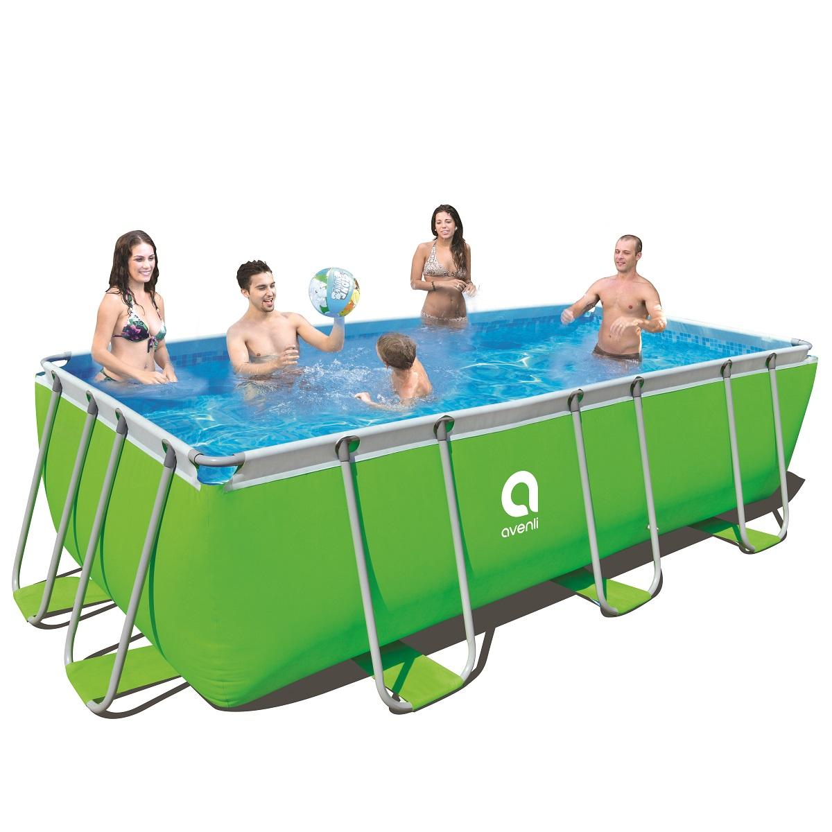 Bazén s pevnou stenou Passaat Green 400 x 200 x 99 cm s kartušovou filtráciou