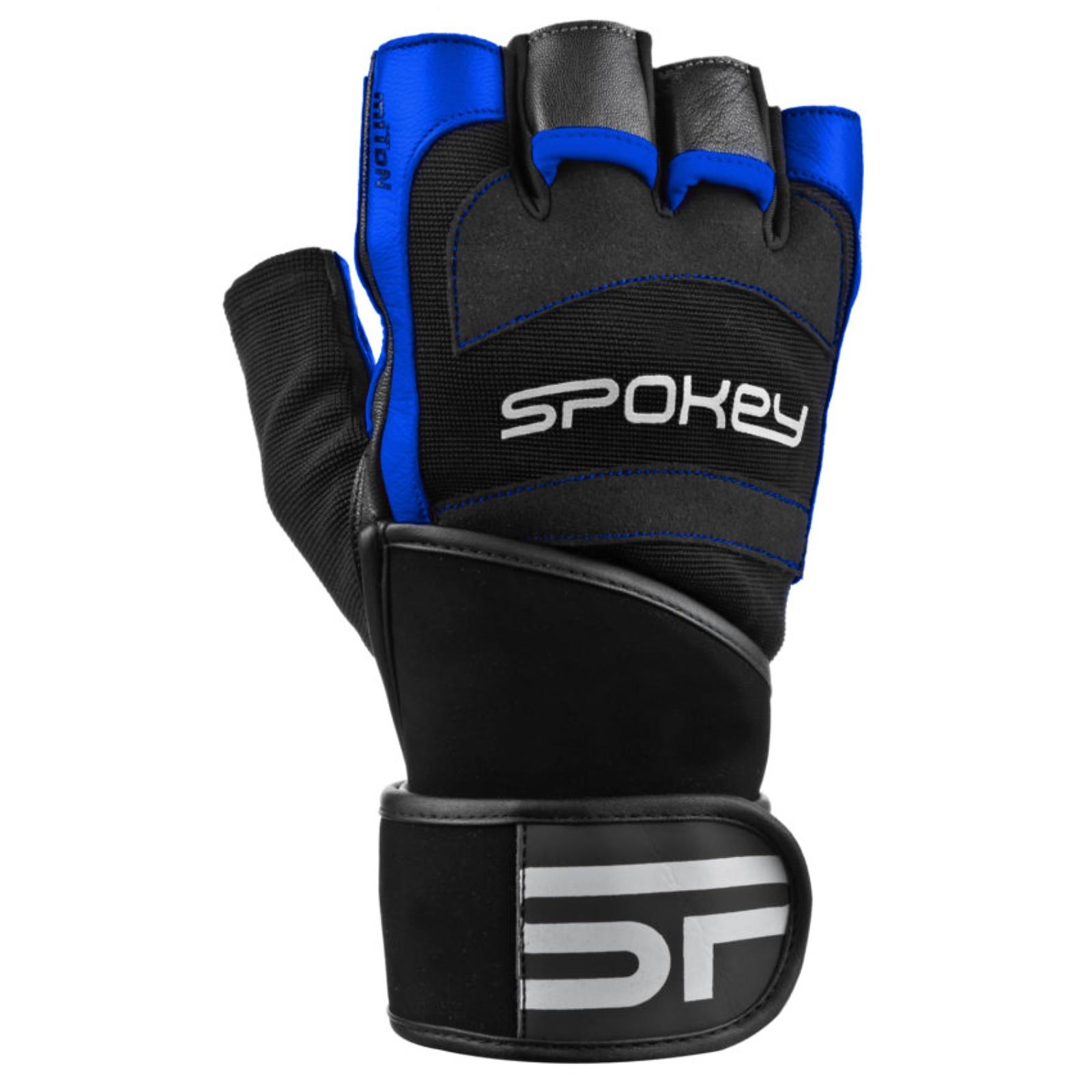 Fitness rukavice SPOKEY Miton čierno-modré - veľ. XL