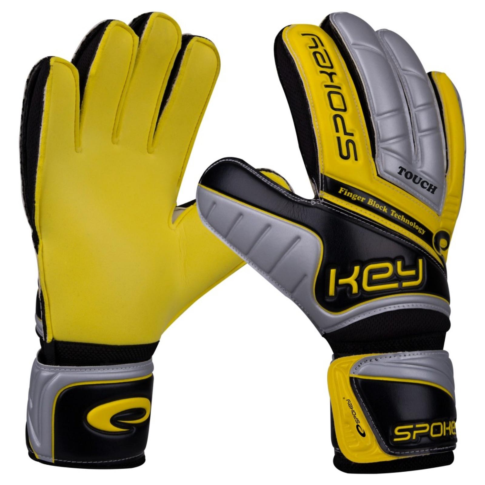 Brankárske rukavice SPOKEY Touch žlté - veľ. 8
