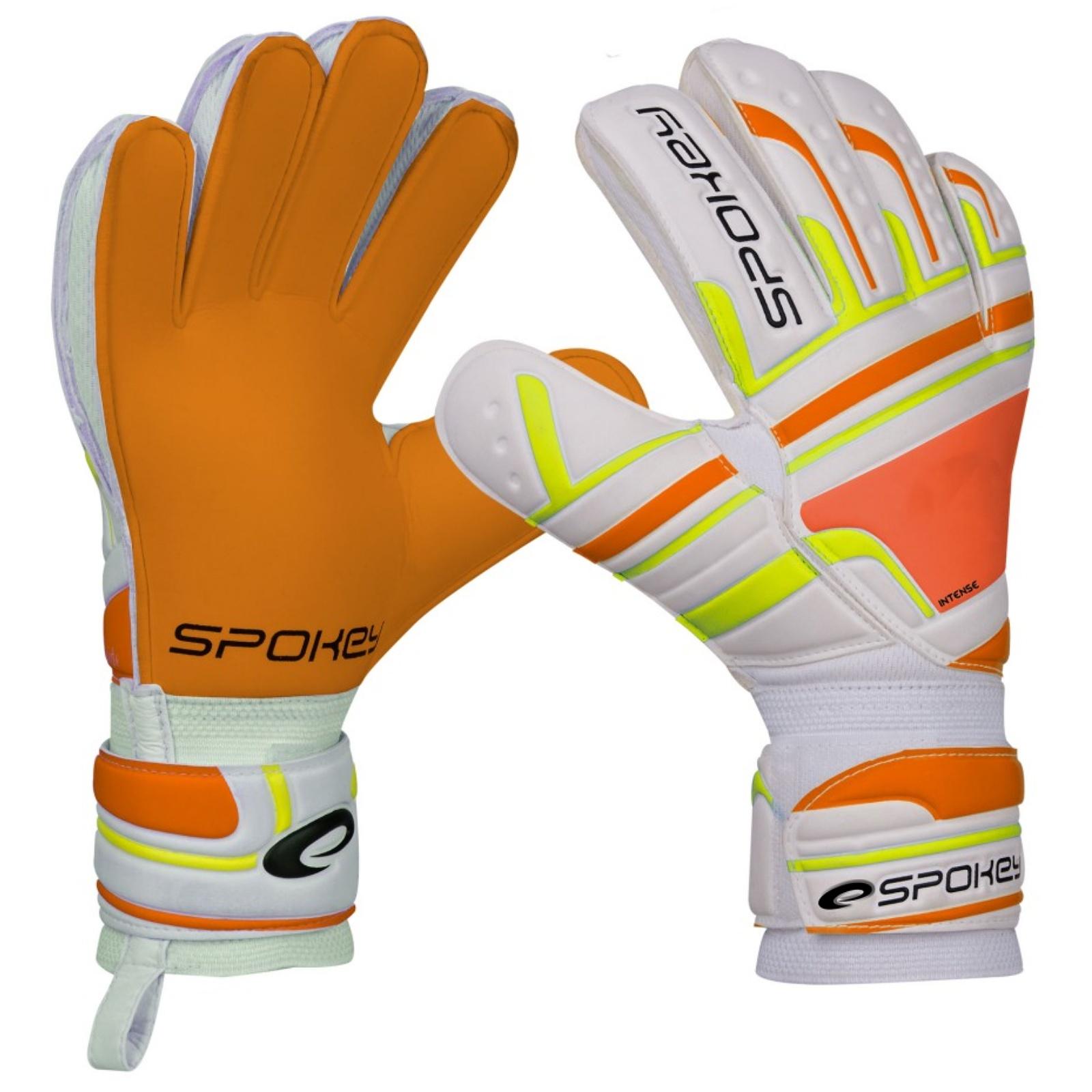 Brankárske rukavice SPOKEY Intense oranžové - veľ. 5