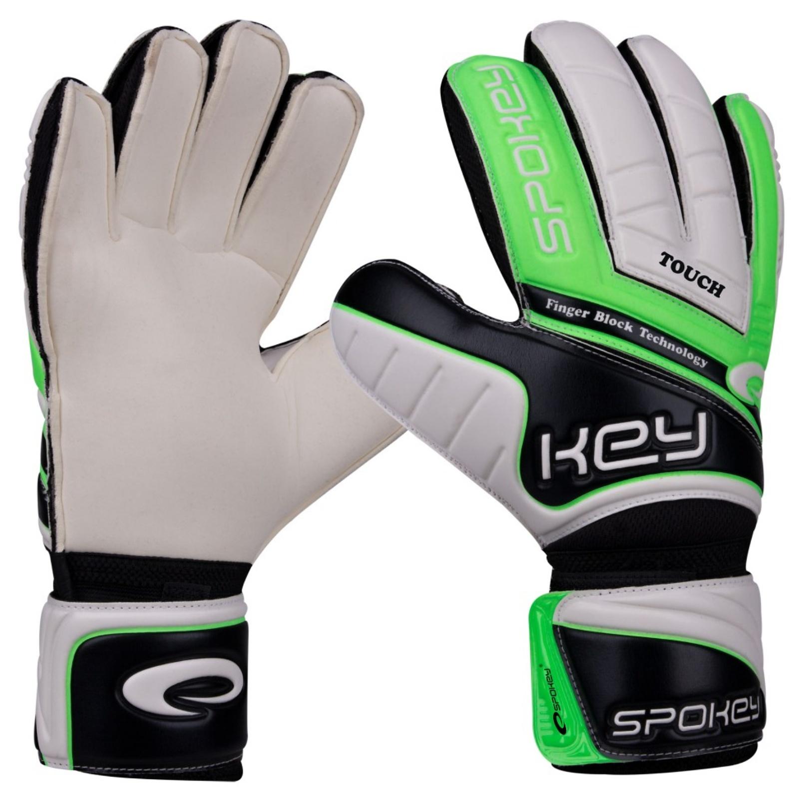 Brankárske rukavice SPOKEY Touch zelené - veľ. 7
