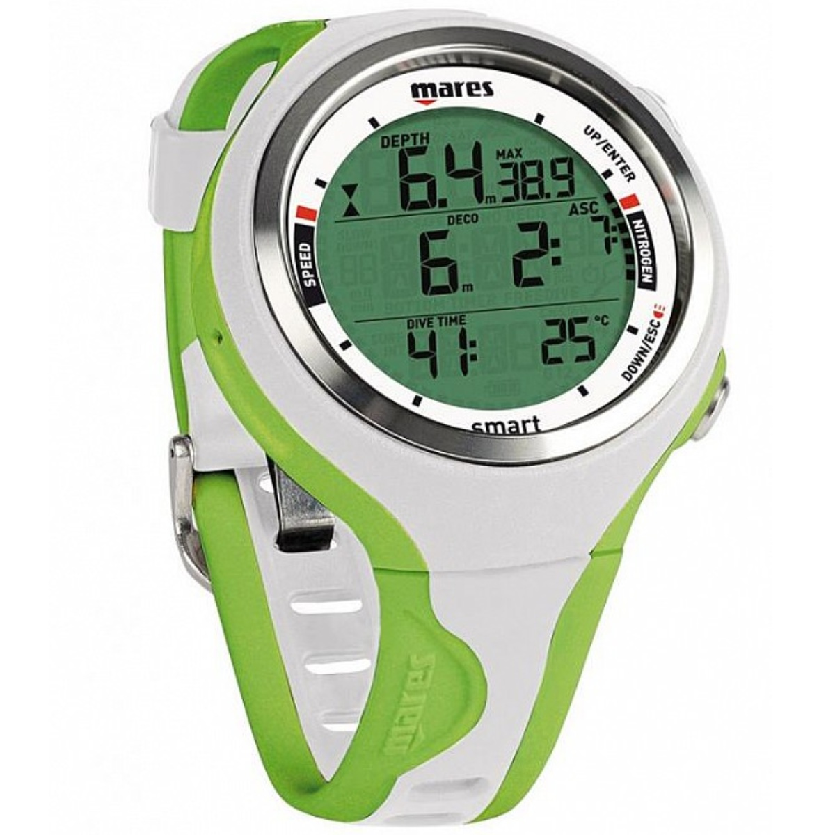 Potápačský počítač MARES Smart zeleno-biely