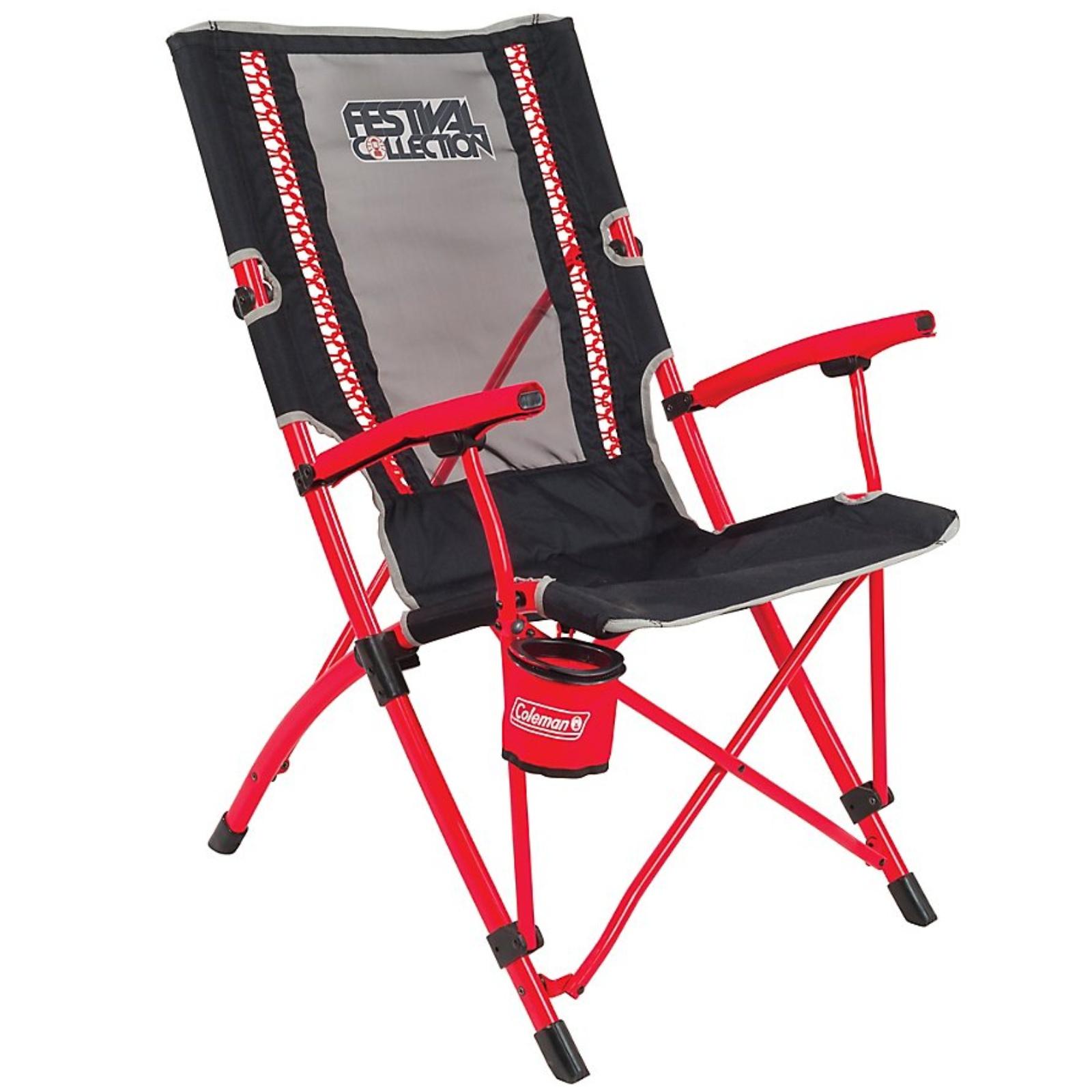 Coleman Bungee Chair Festival Červená kempinková židle