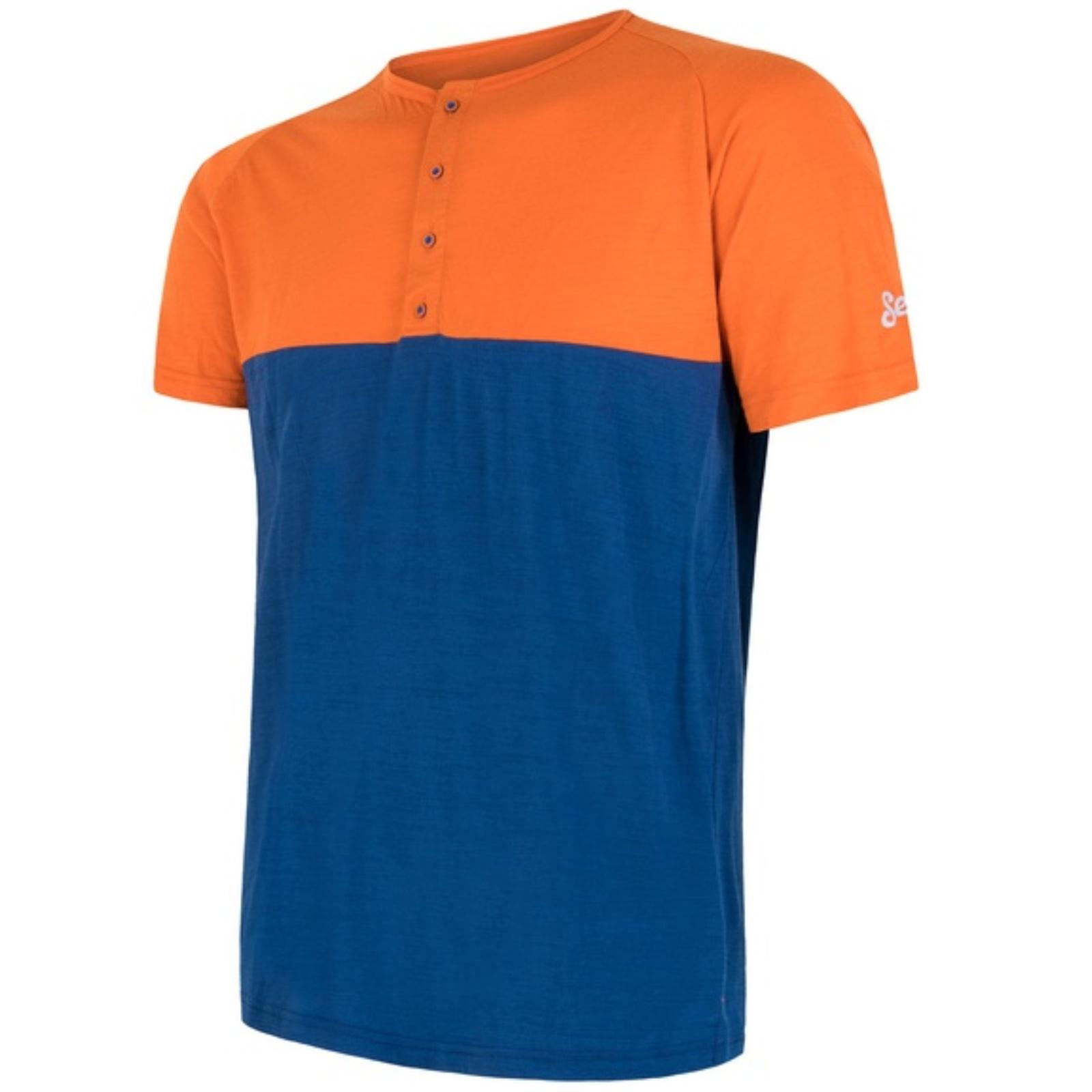 Tričko kr. ruk. SENSOR Merino Air PT pán. oranžovo-modré - veľ. XL