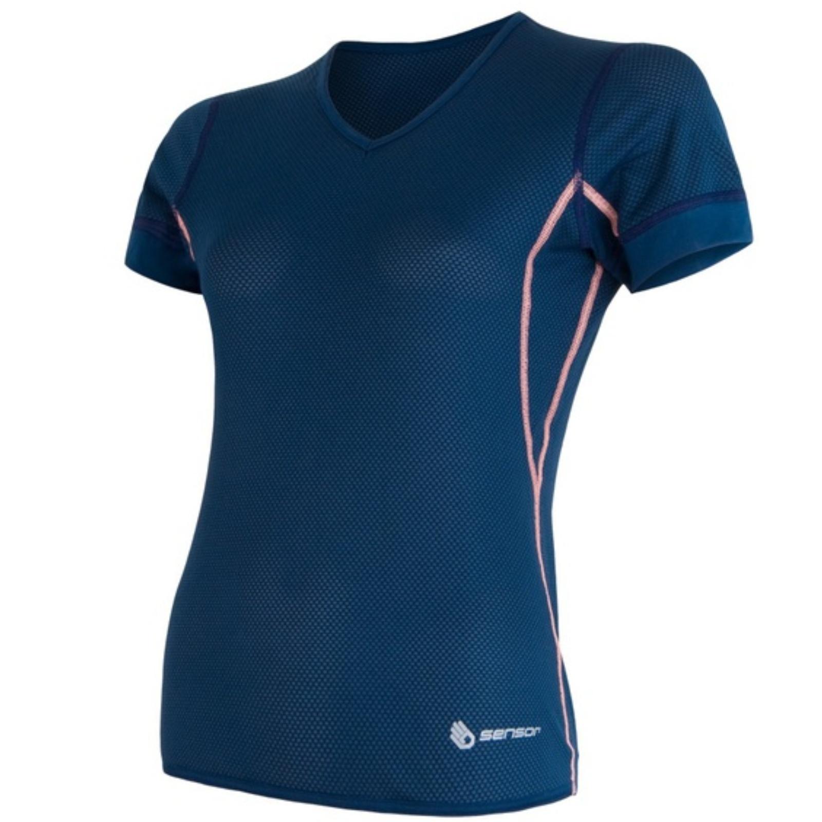 Tričko krátky rukáv SENSOR Coolmax Air dámske modré