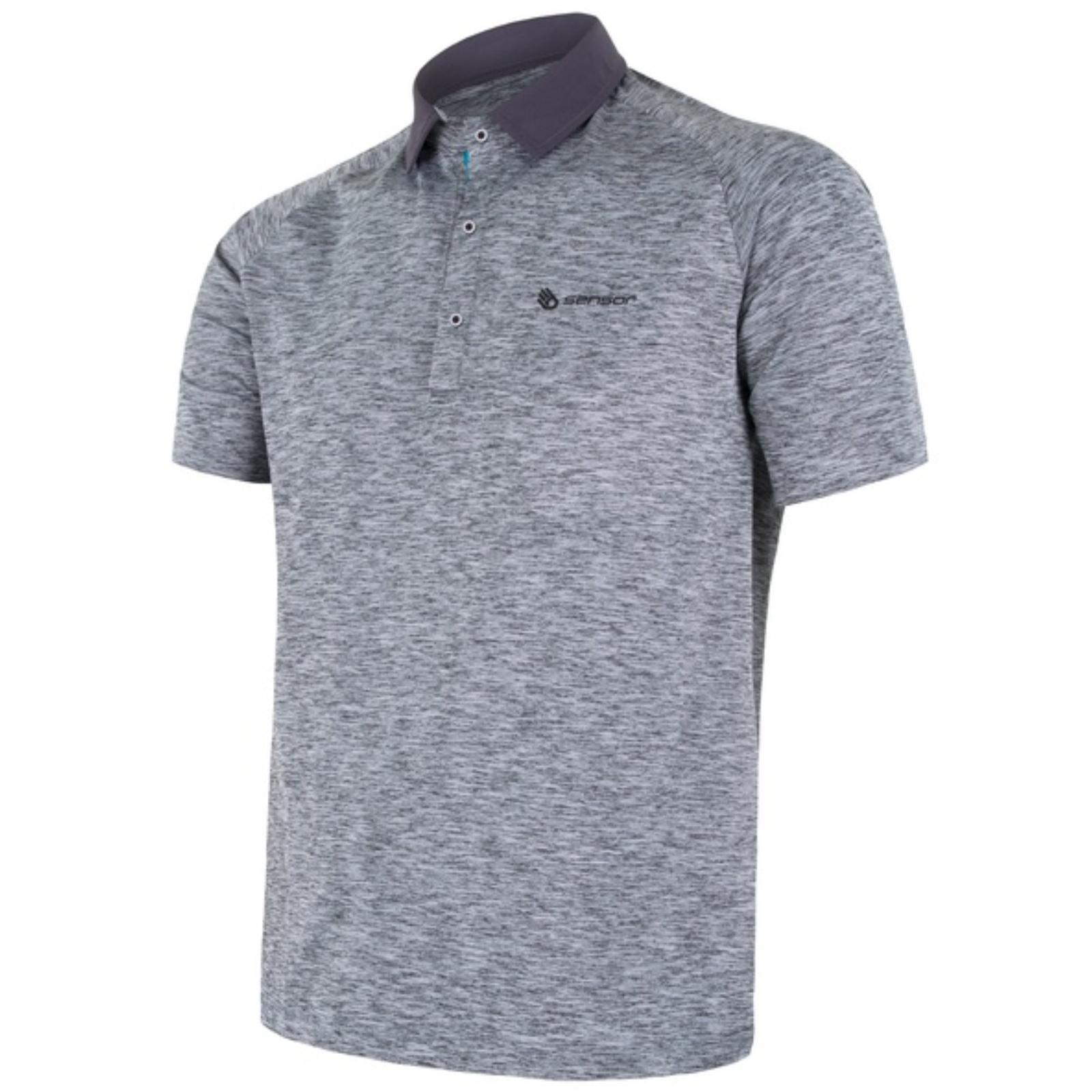 Tričko krátky rukáv SENSOR Motion pánske šedé
