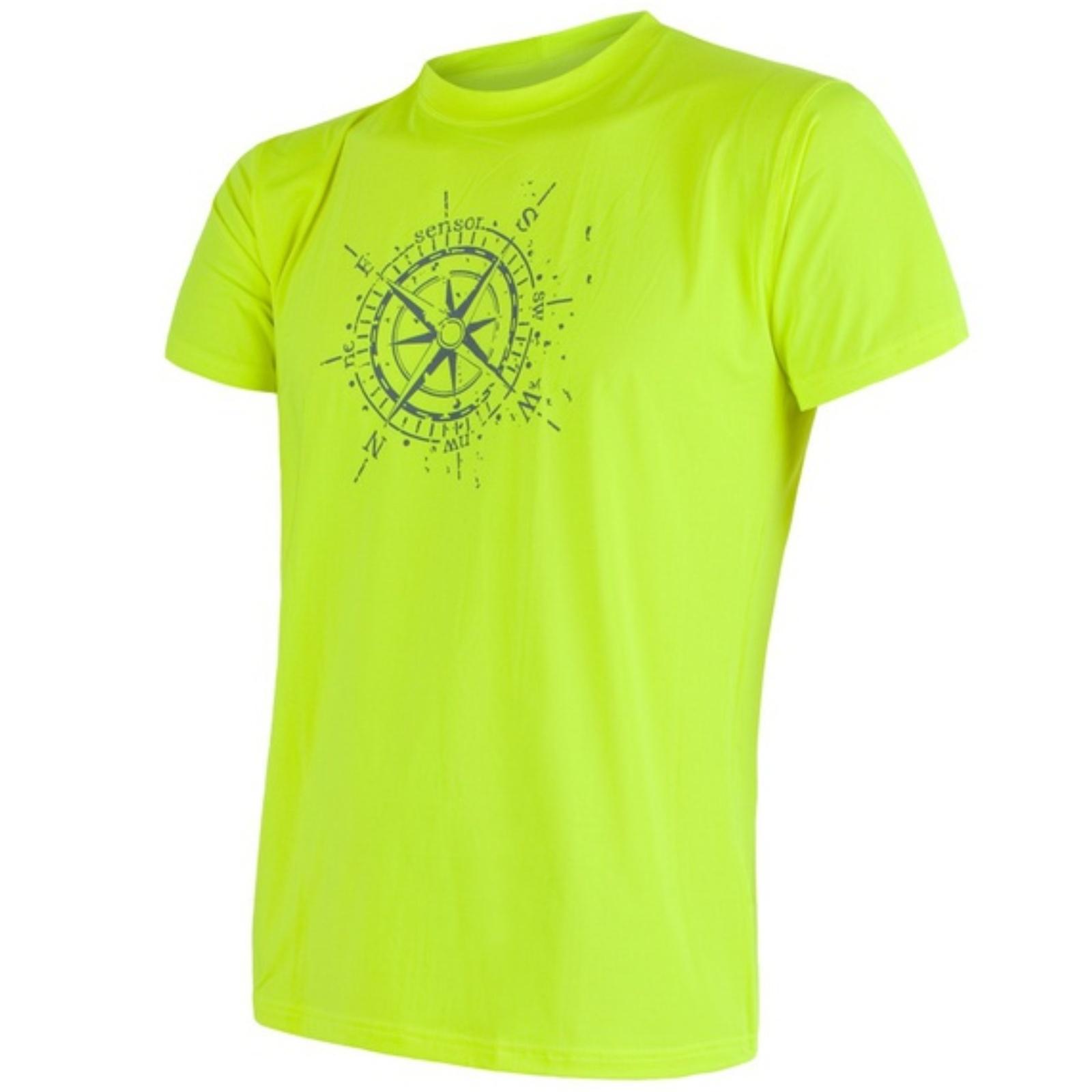 Tričko krátky rukáv SENSOR Coolmax PT Kompas pánske žlté