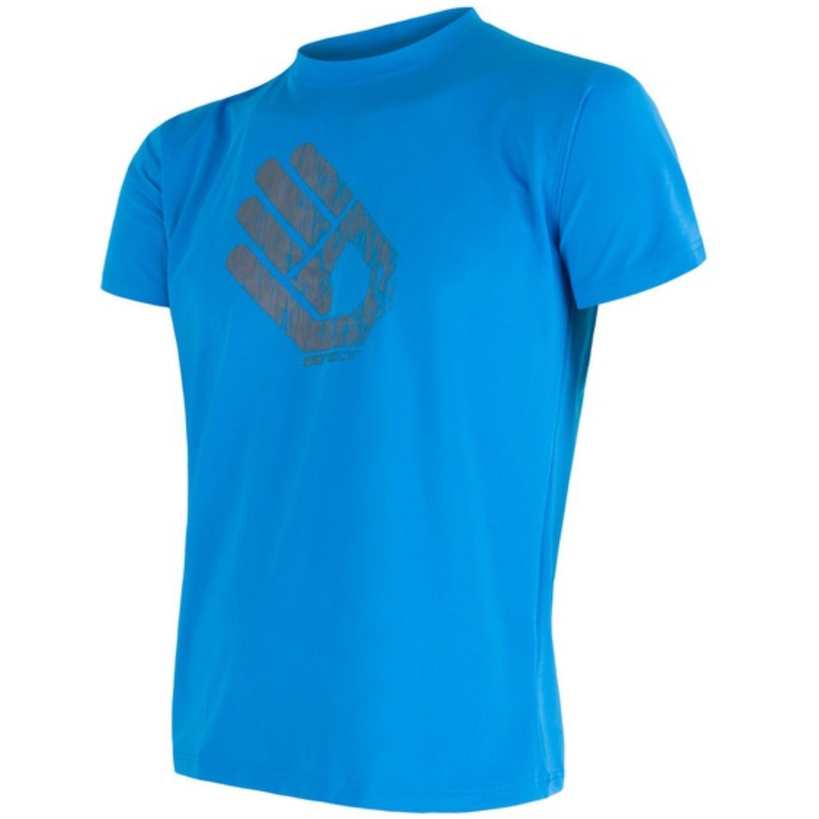 Tričko krátky rukáv SENSOR Coolmax PT Ruka pánske modré