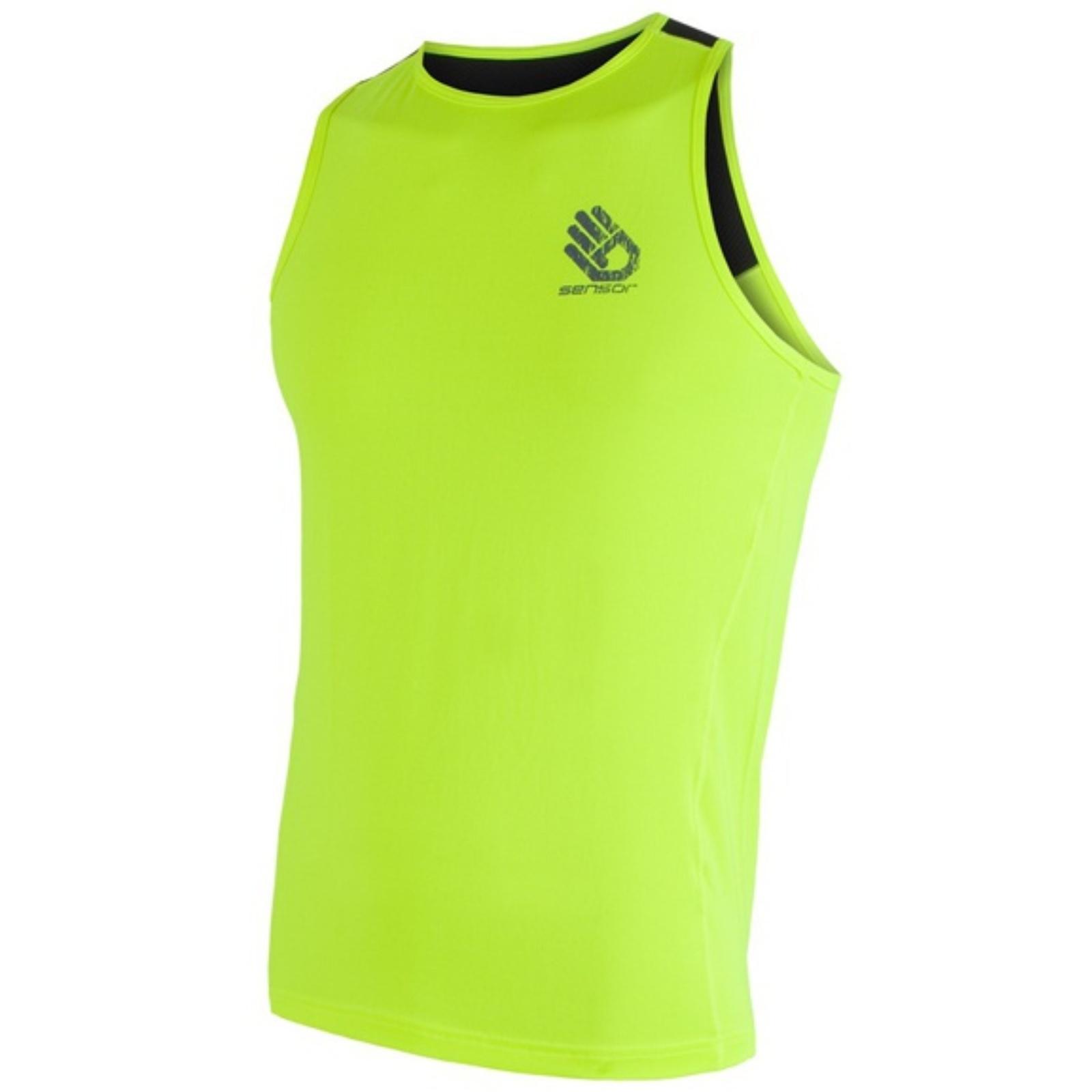 Tričko bez rukávov SENSOR Coolmax PT Ruka pánske žlté